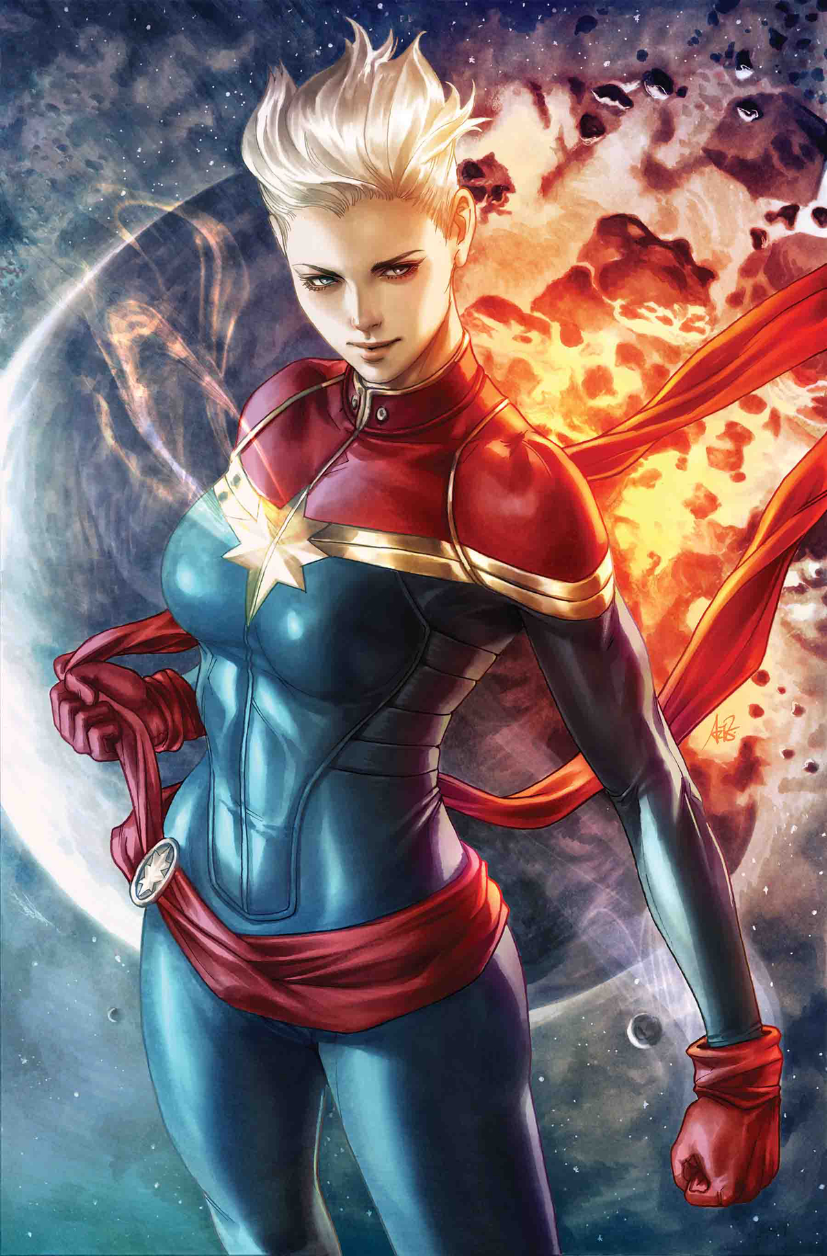 LIFE OF CAPTAIN MARVEL BY ARTGERM POSTER