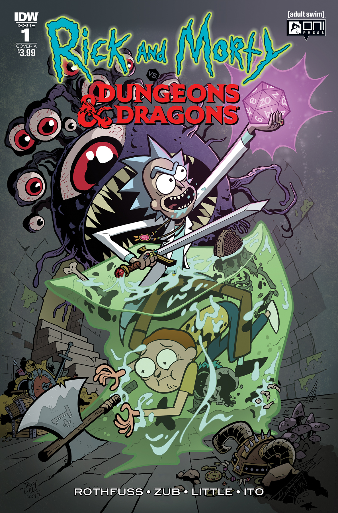 RICK & MORTY VS DUNGEONS & DRAGONS #1 (OF 4) CVR A LITTLE