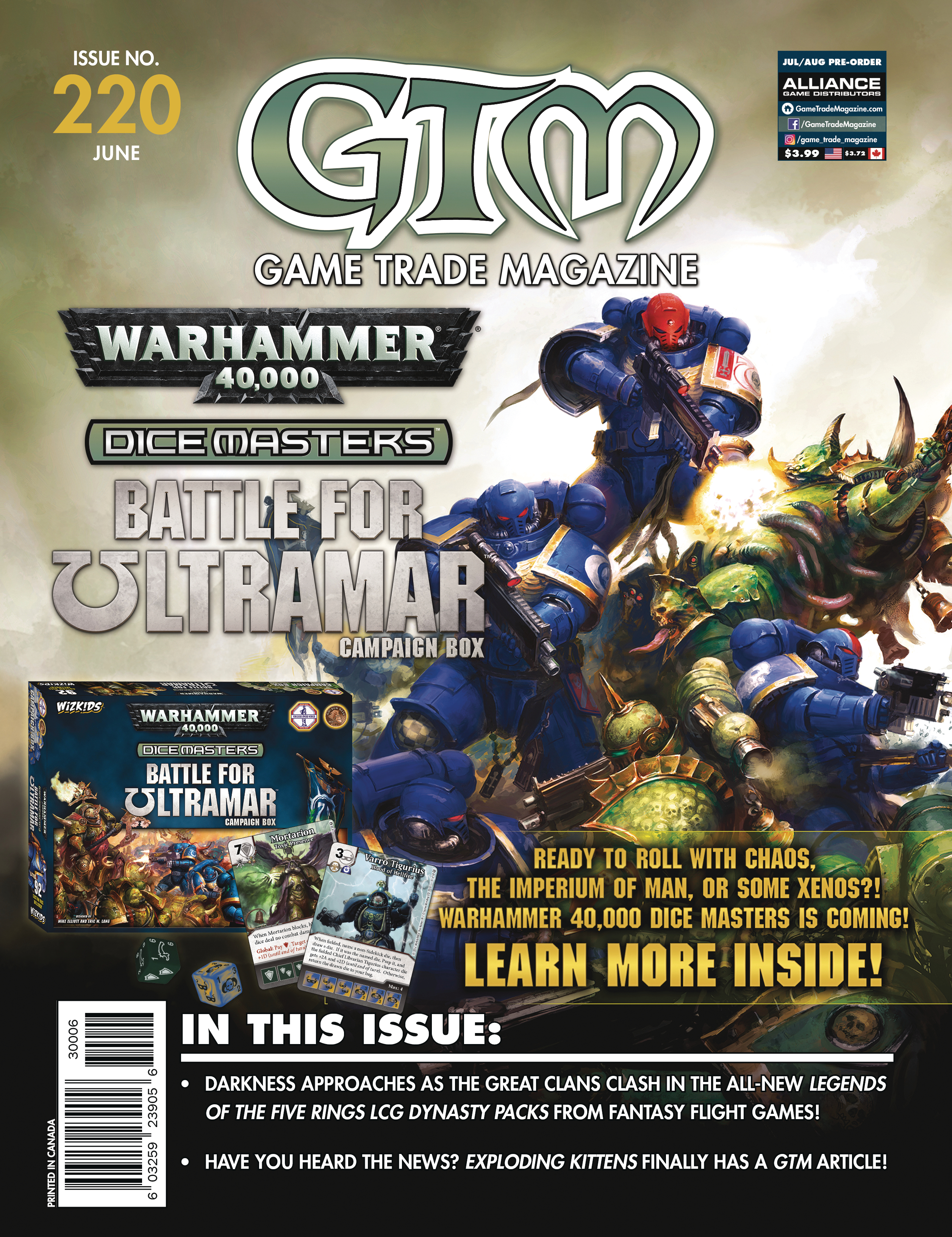 (USE JUN180011) GAME TRADE MAGAZINE #222