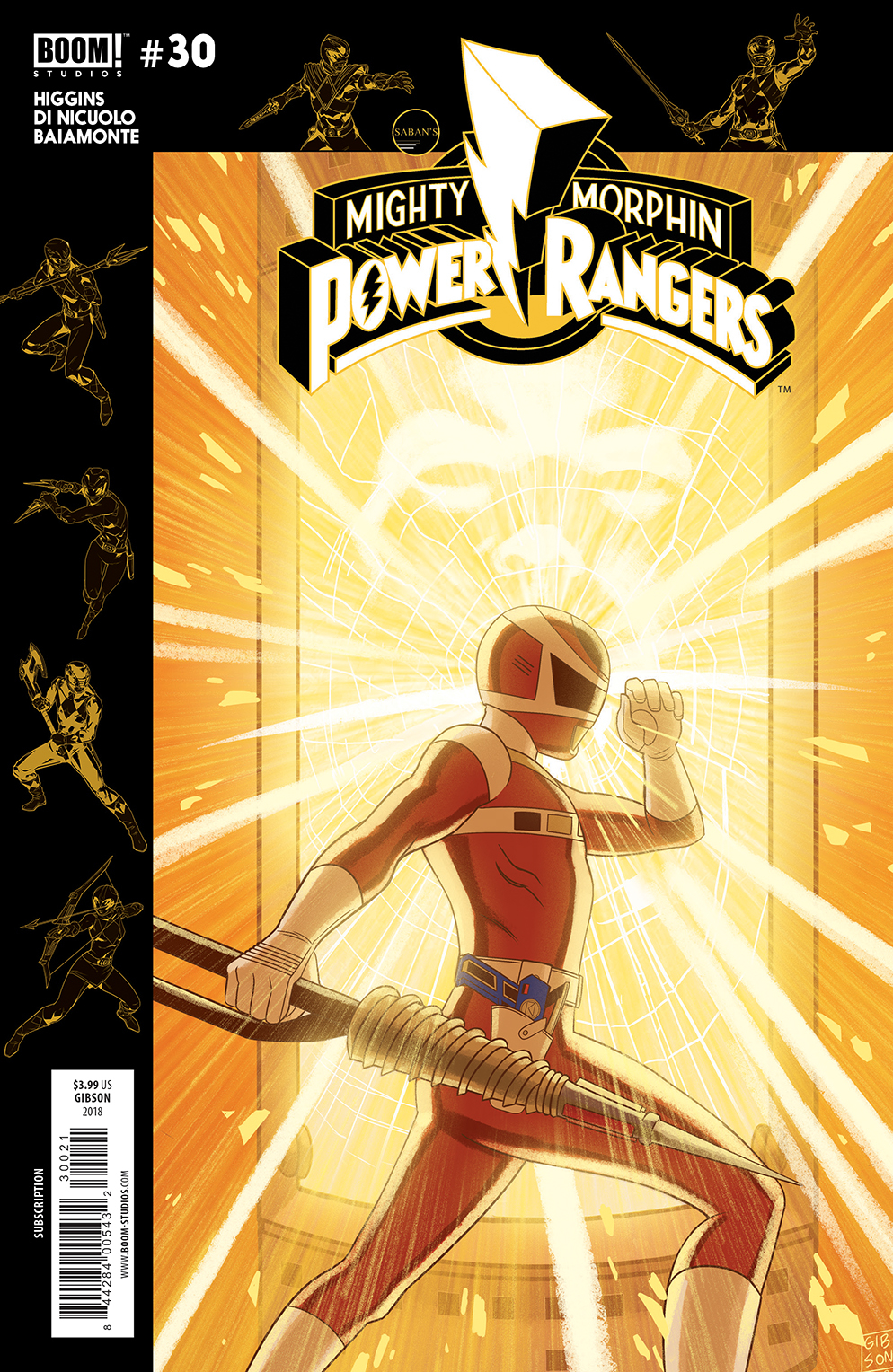 MIGHTY MORPHIN POWER RANGERS #30 SUBSCRIPTION GIBSON VAR SG