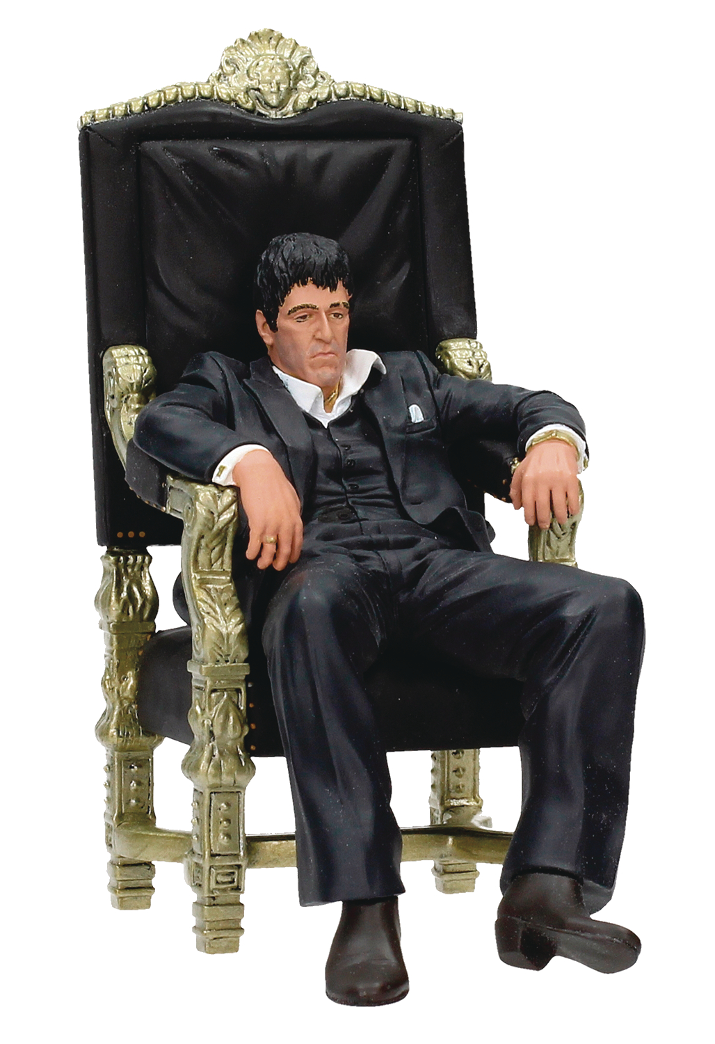 MOVIE ICONS SCARFACE TONY MONTANA THRONE 7IN FIGURE