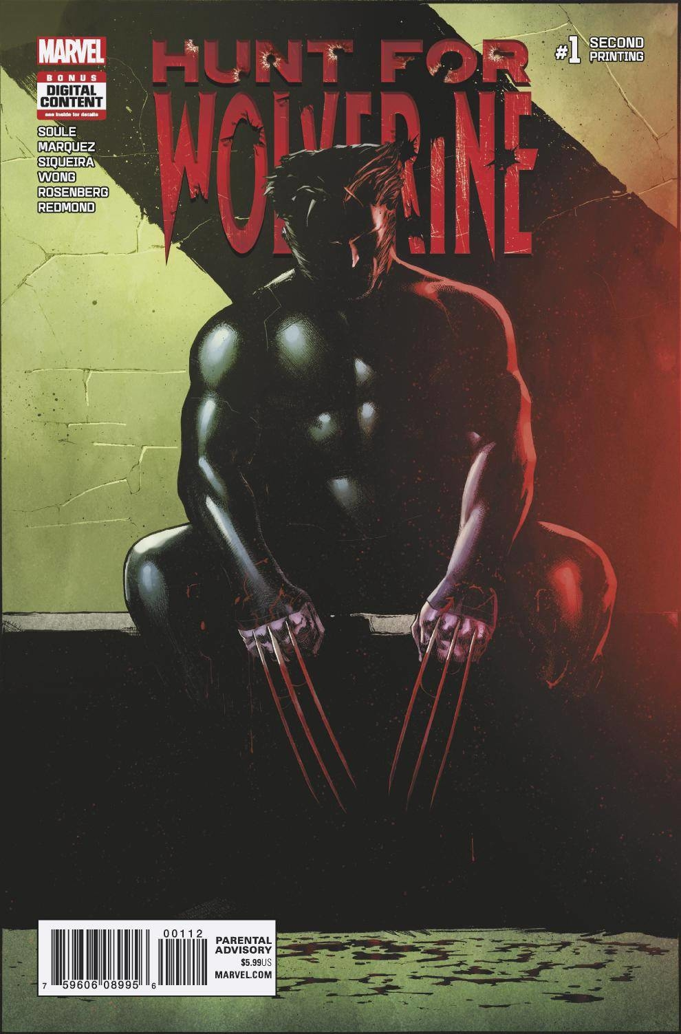 HUNT FOR WOLVERINE #1 2ND PTG MARQUEZ VAR