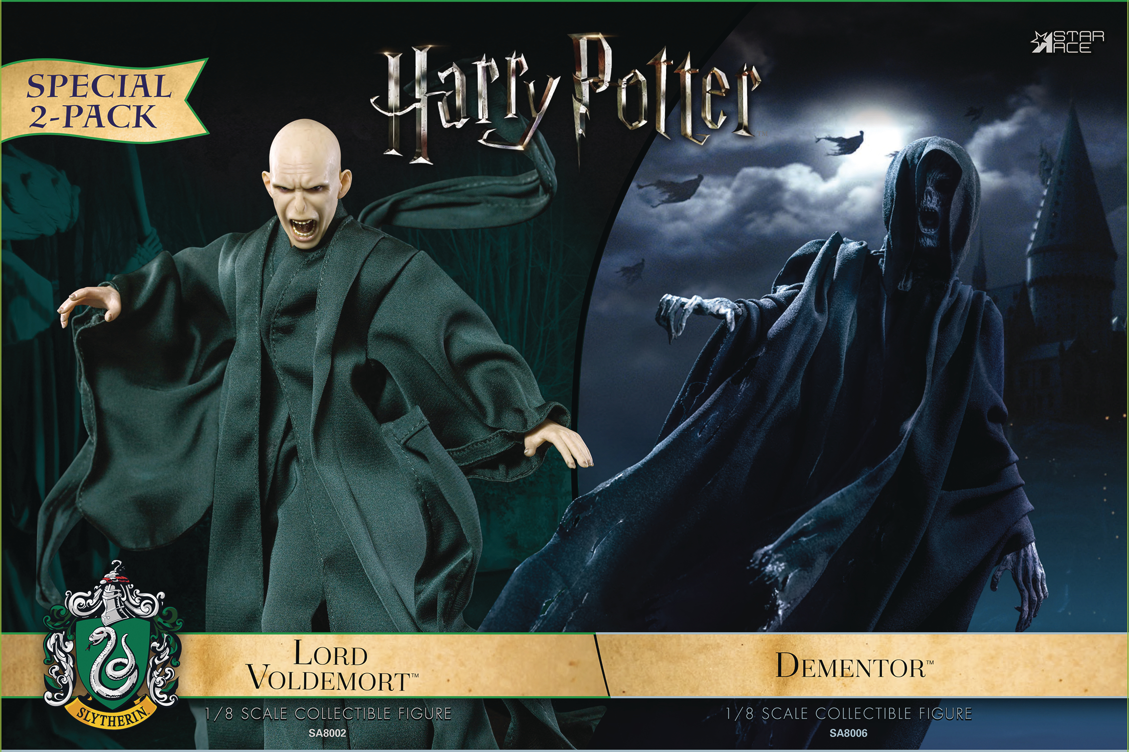 HP & THE GOBLET OF FIRE DEMENTOR W/VOLDEMORT 1/8 COLL AF 2PK