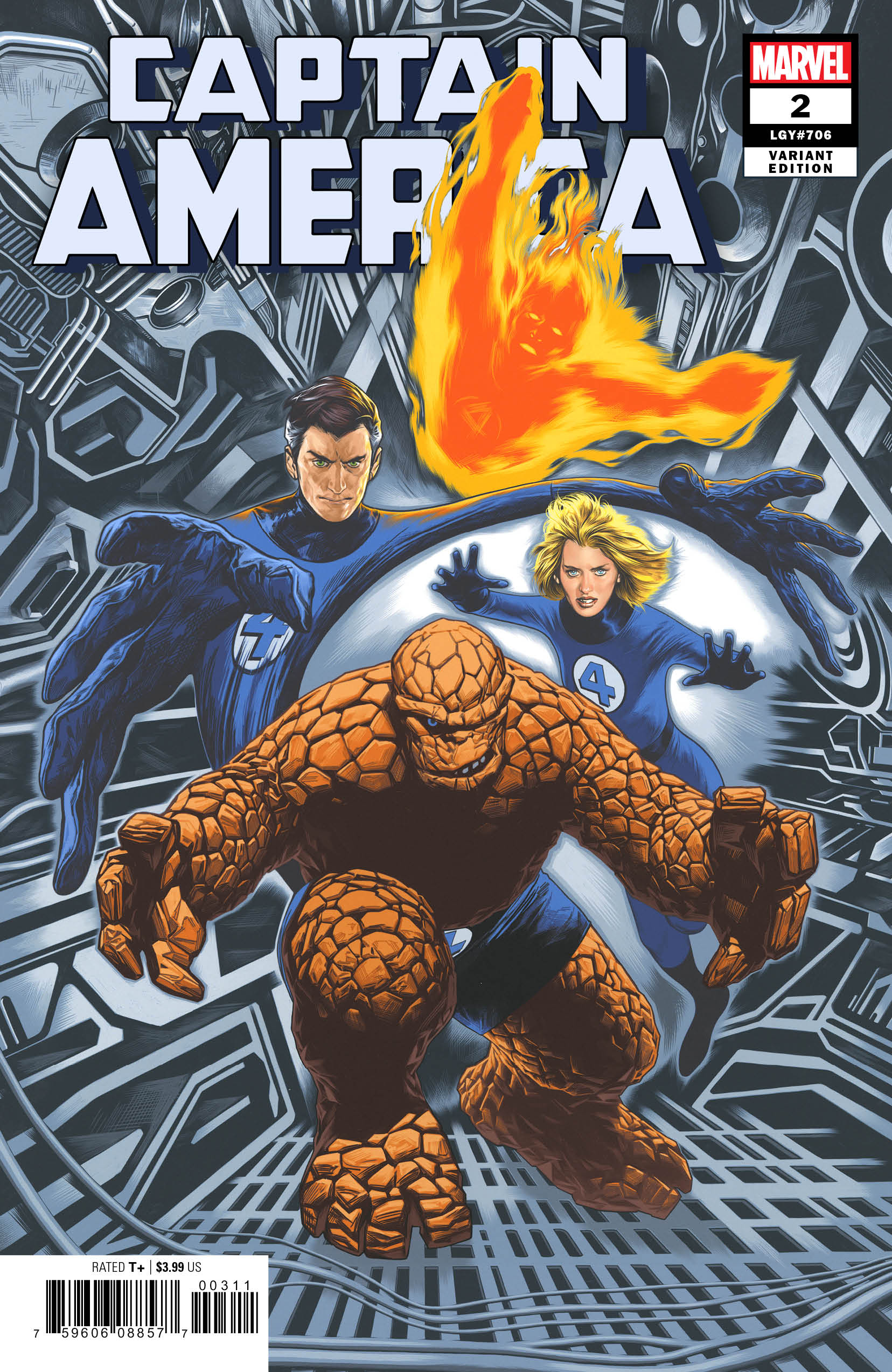 CAPTAIN AMERICA #2 CHAREST RETURN OF FANTASTIC FOUR VAR