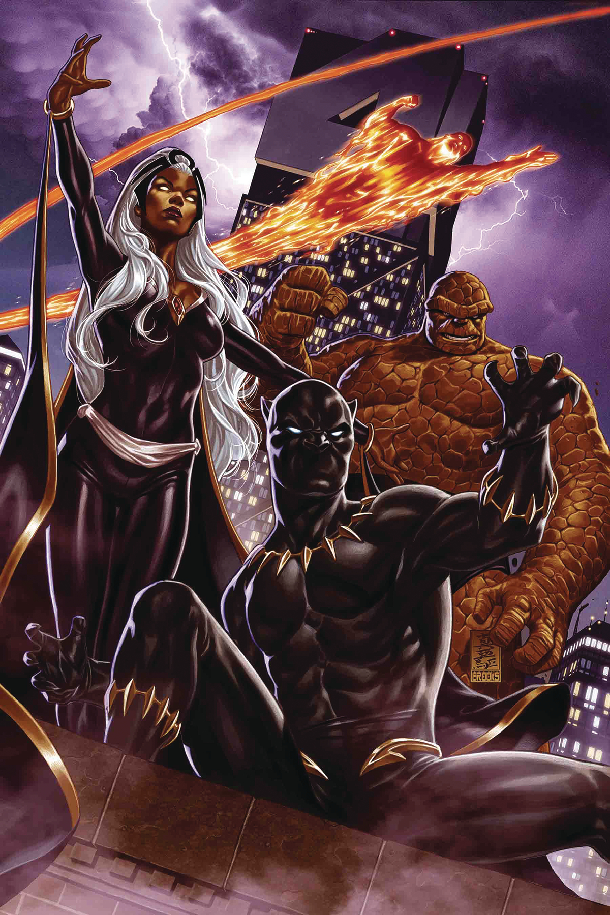 FANTASTIC FOUR #1 BROOKS RETURN OF FANTASTIC FOUR VAR