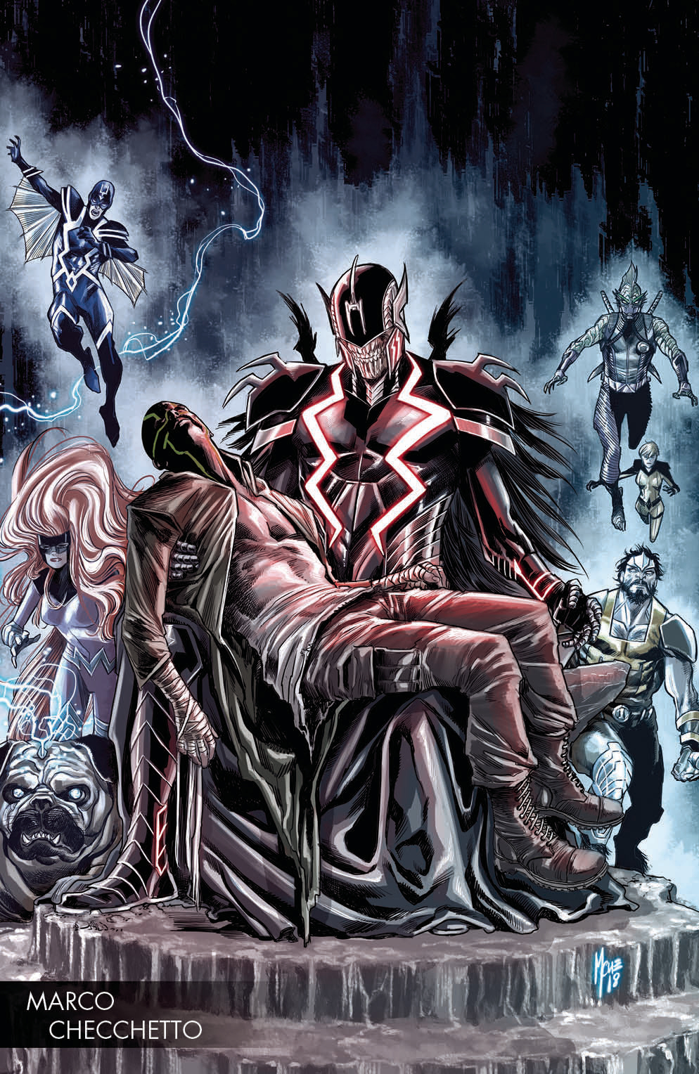 DEATH OF INHUMANS #2 (OF 5) CHECCHETTO YOUNG GUNS VAR