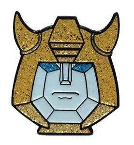TRANSFORMERS BUMBLEBEE GLITTER FACE PIN