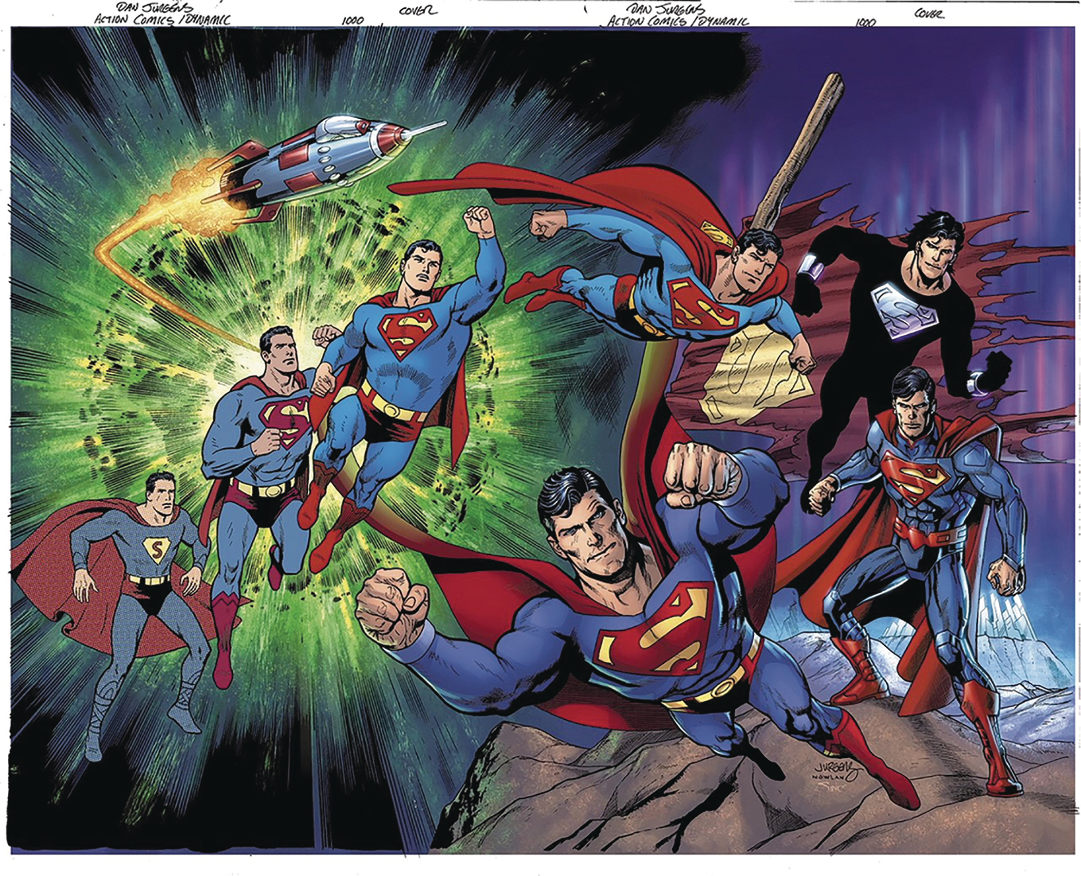 DF ACTION COMICS #1000 JURGENS SGN GOLD WRAPAROUND
