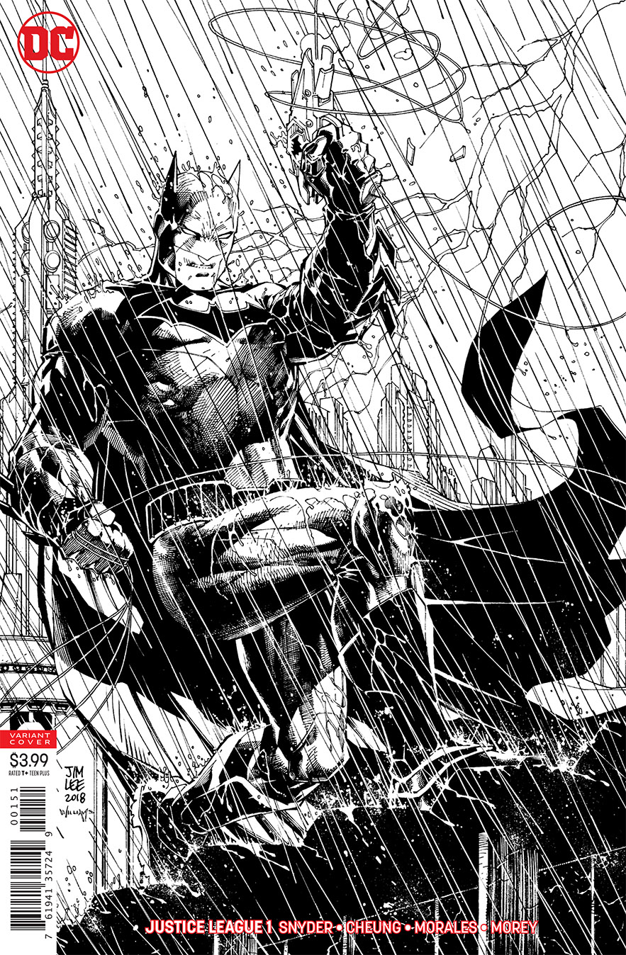 JUSTICE LEAGUE #1 JIM LEE INKS ONLY VAR ED