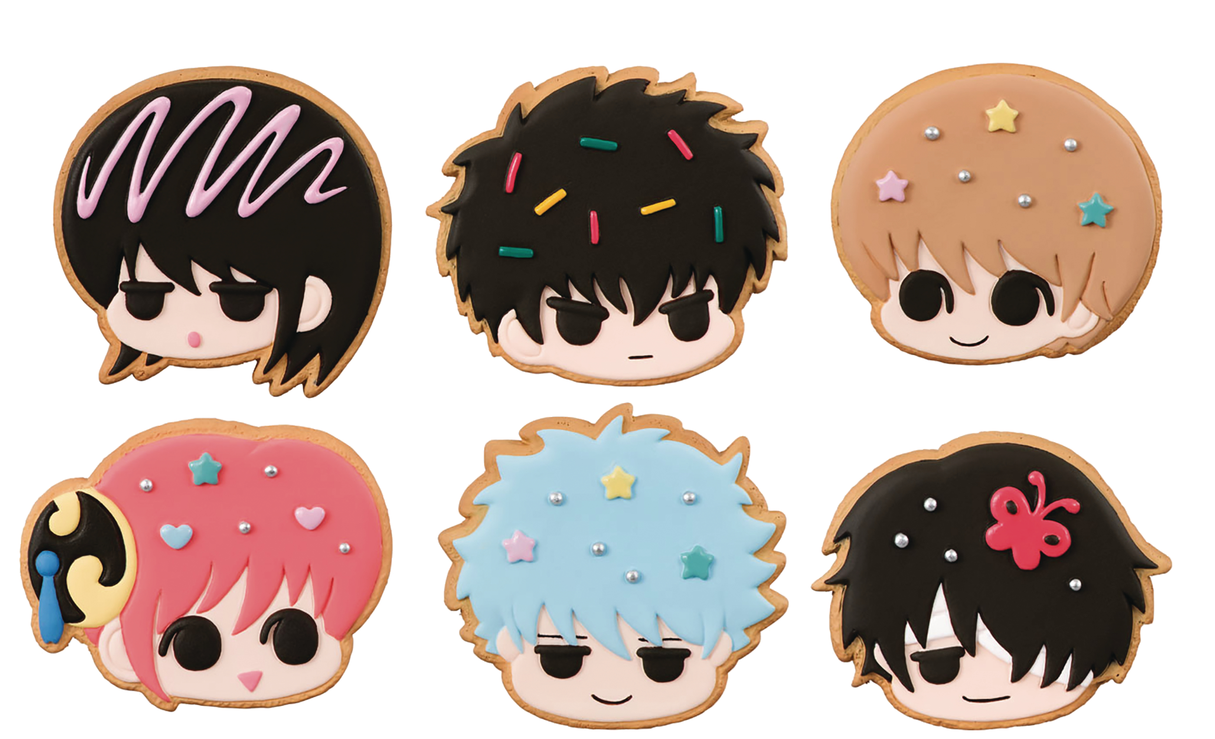 GINTAMA PATISSERIE GIN SANS COOKIE SHOP CHARM 6PC DS