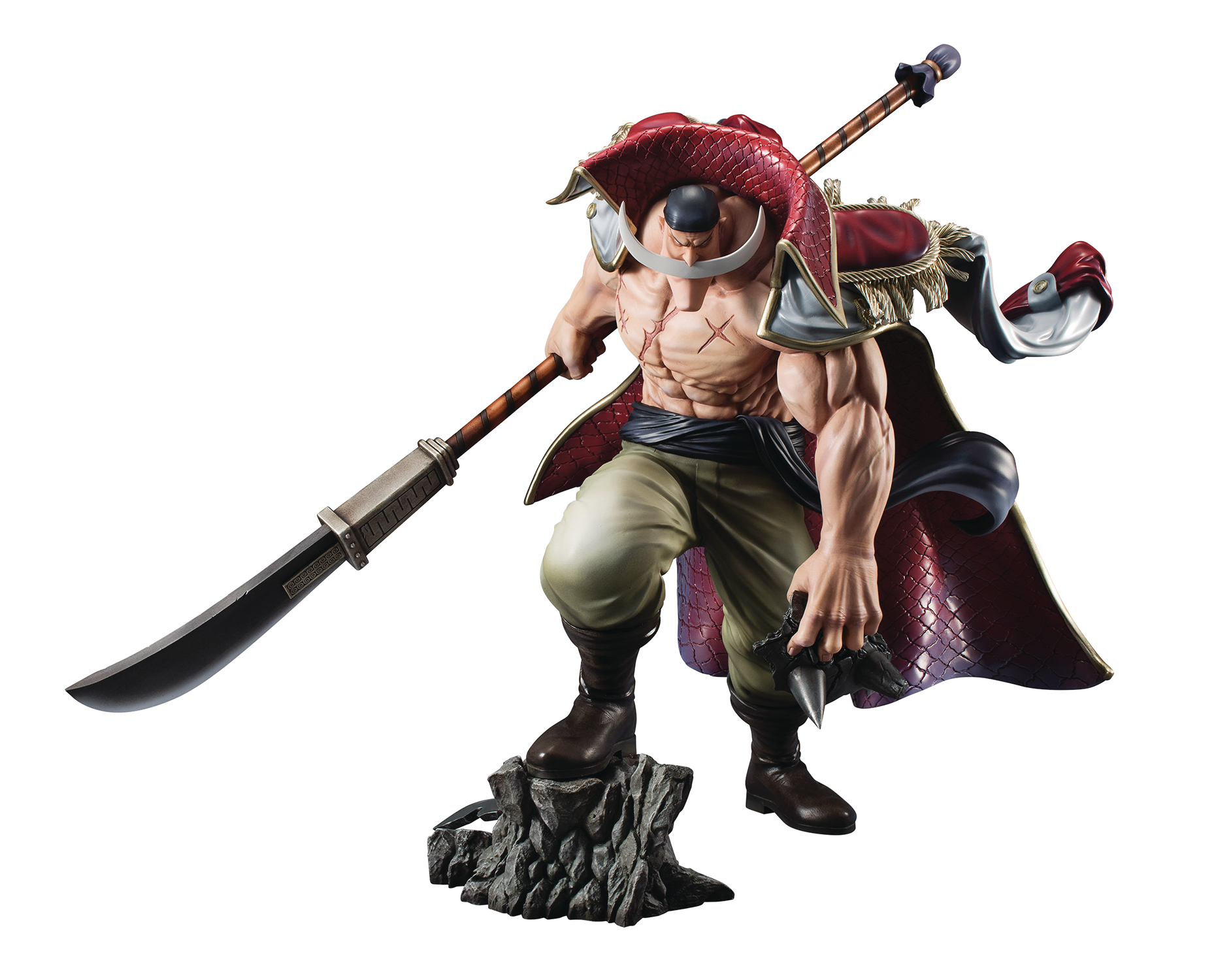 ONE PIECE PORTRAIT OF PIRATES NEO-MAX WHITE BEARD PVC FIG (C