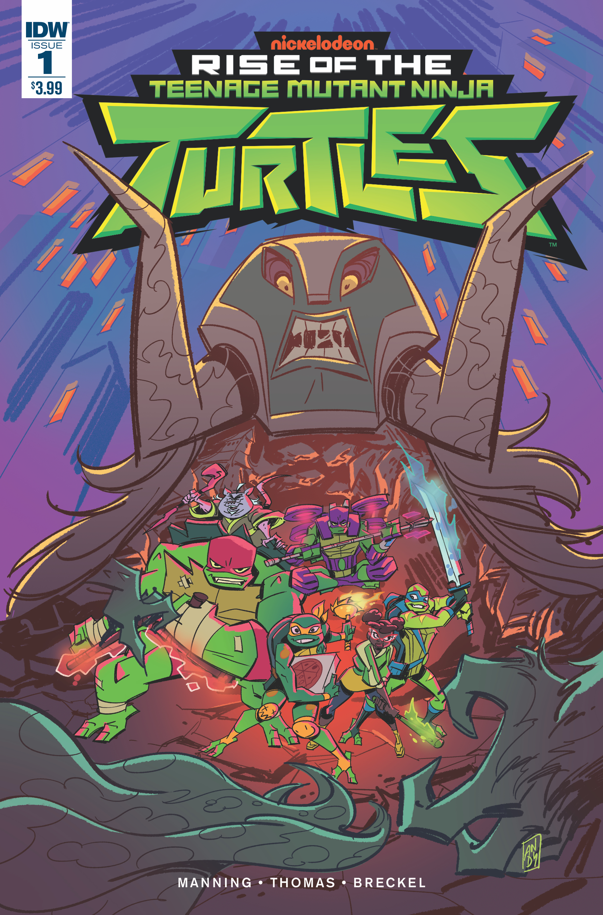 TMNT RISE OF THE TMNT #1