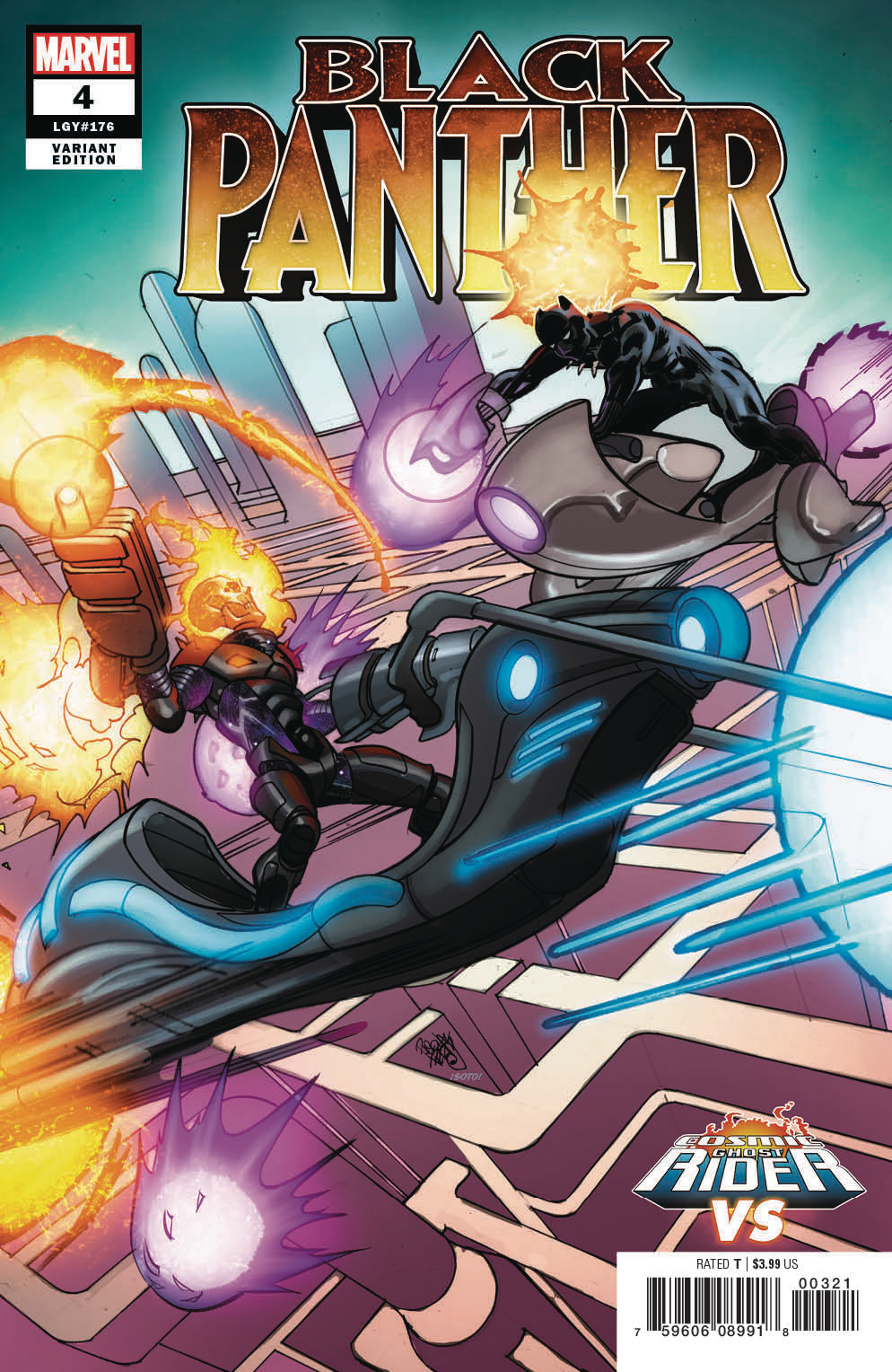 BLACK PANTHER #4 FERRY COSMIC GHOST RIDER VAR