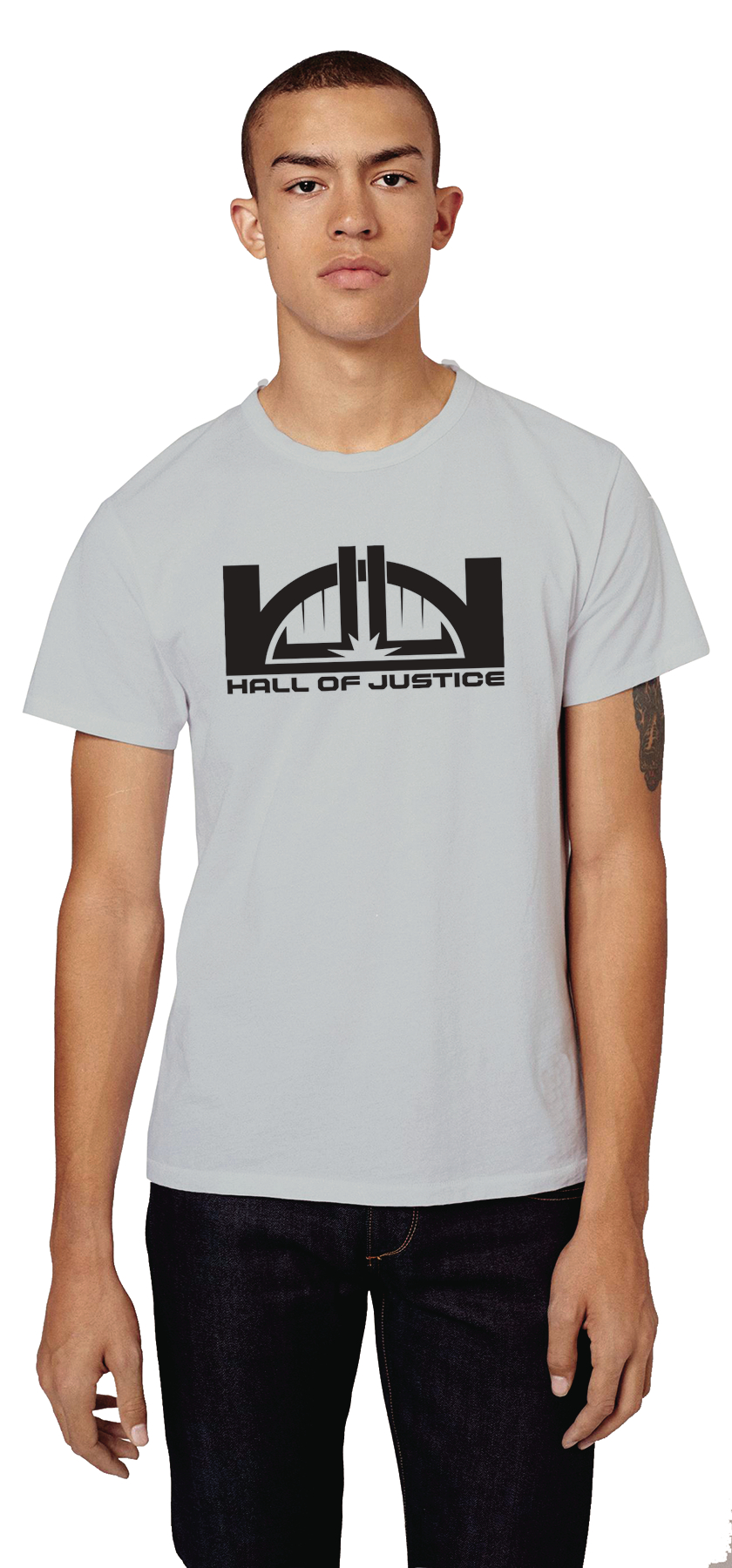 DC HALL OF JUSTICE STAFF T/S XL