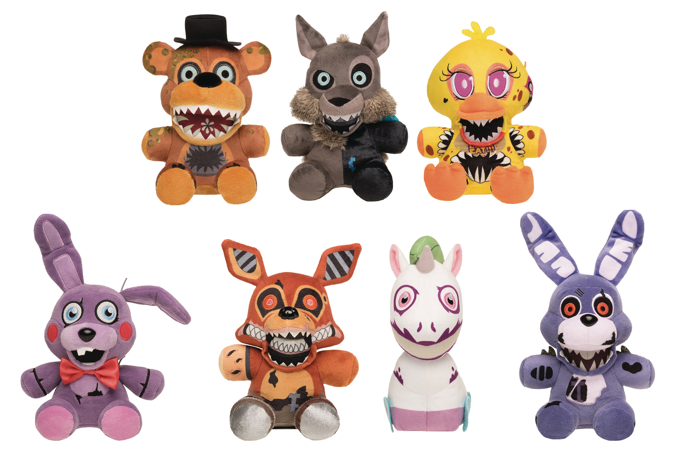 FIVE NIGHTS AT FREDDYS TWISTED ONES 9PC PLUSH FIG DISP