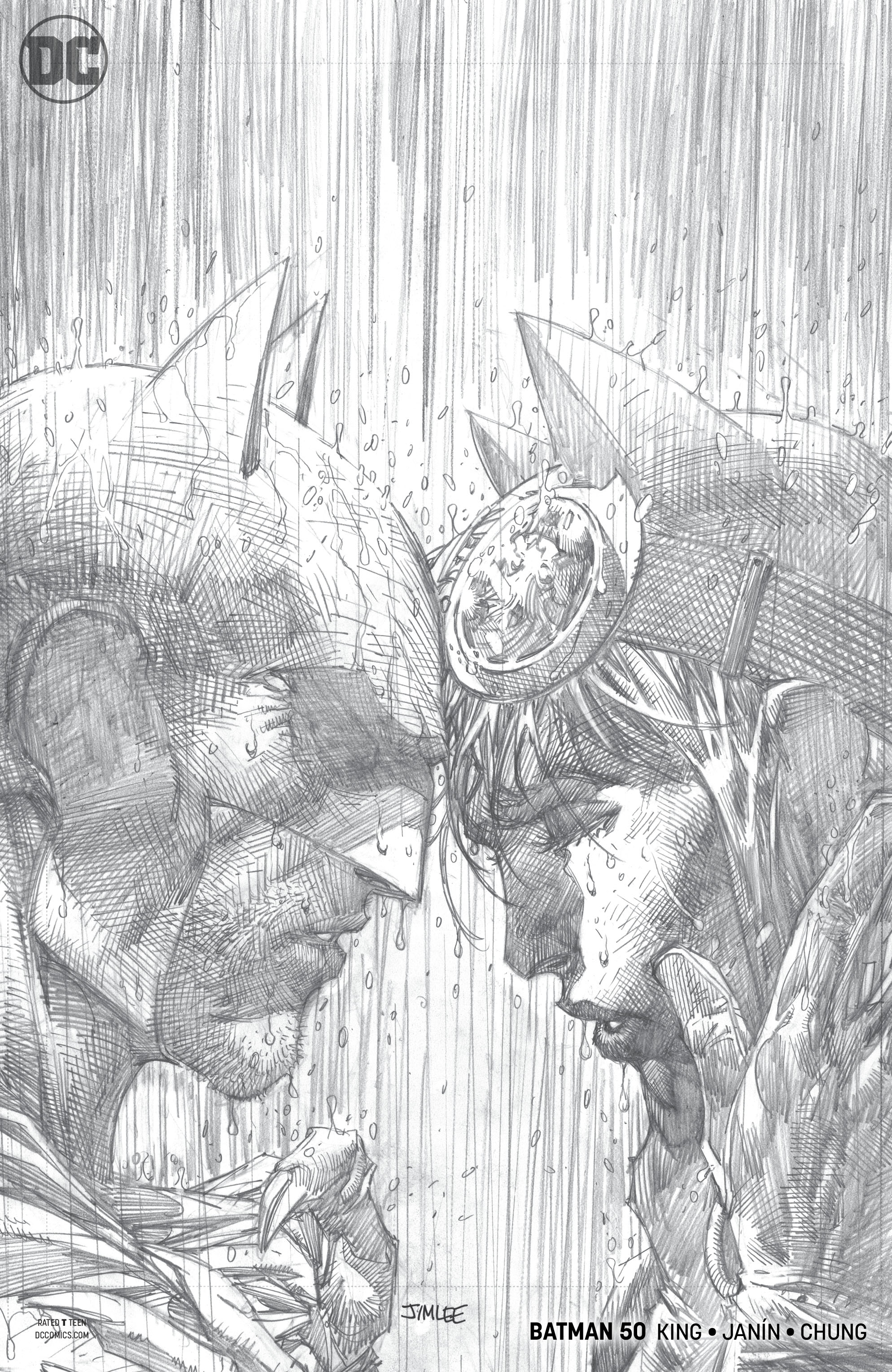 92c6f2f55134 APR188990 - BATMAN  50 JIM LEE PENCILS VAR ED - Previews World