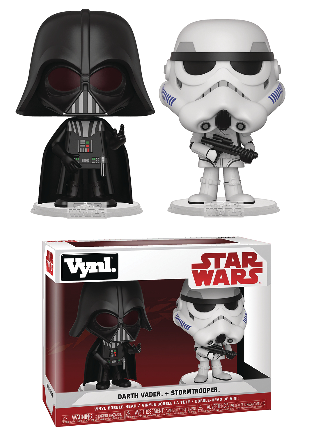 VYNL STAR WARS DARTH VADER & STORMTROOPER VIN FIG 2PK