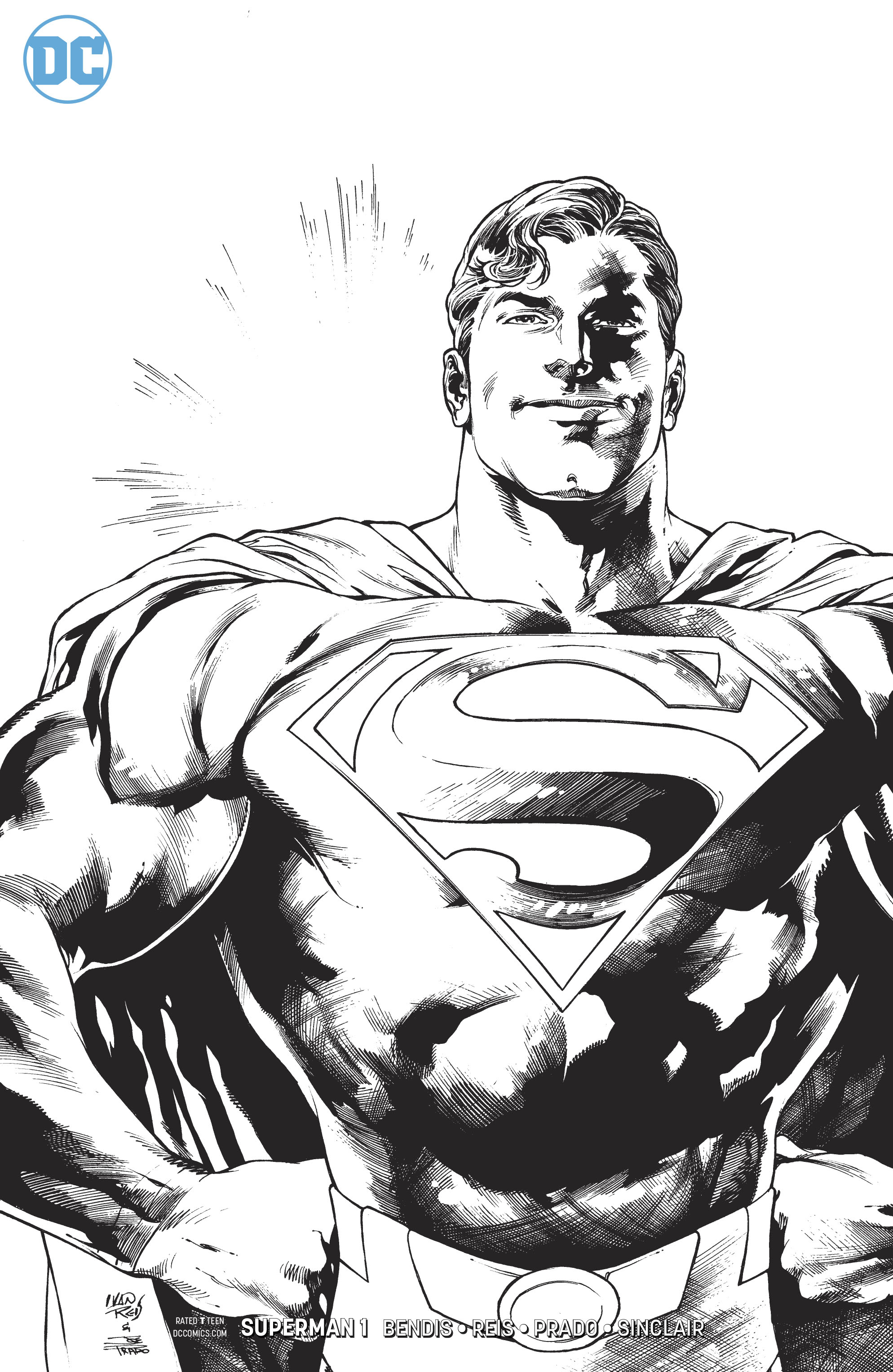 SUPERMAN #1 BLACK AND WHITE VAR ED