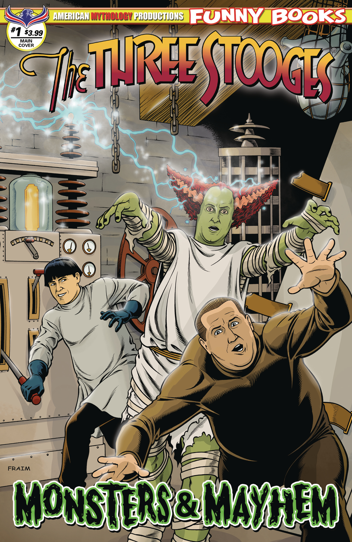 THE THREE STOOGES MONSTERS & MAYHEM #1 FRAIMS MAIN CVR