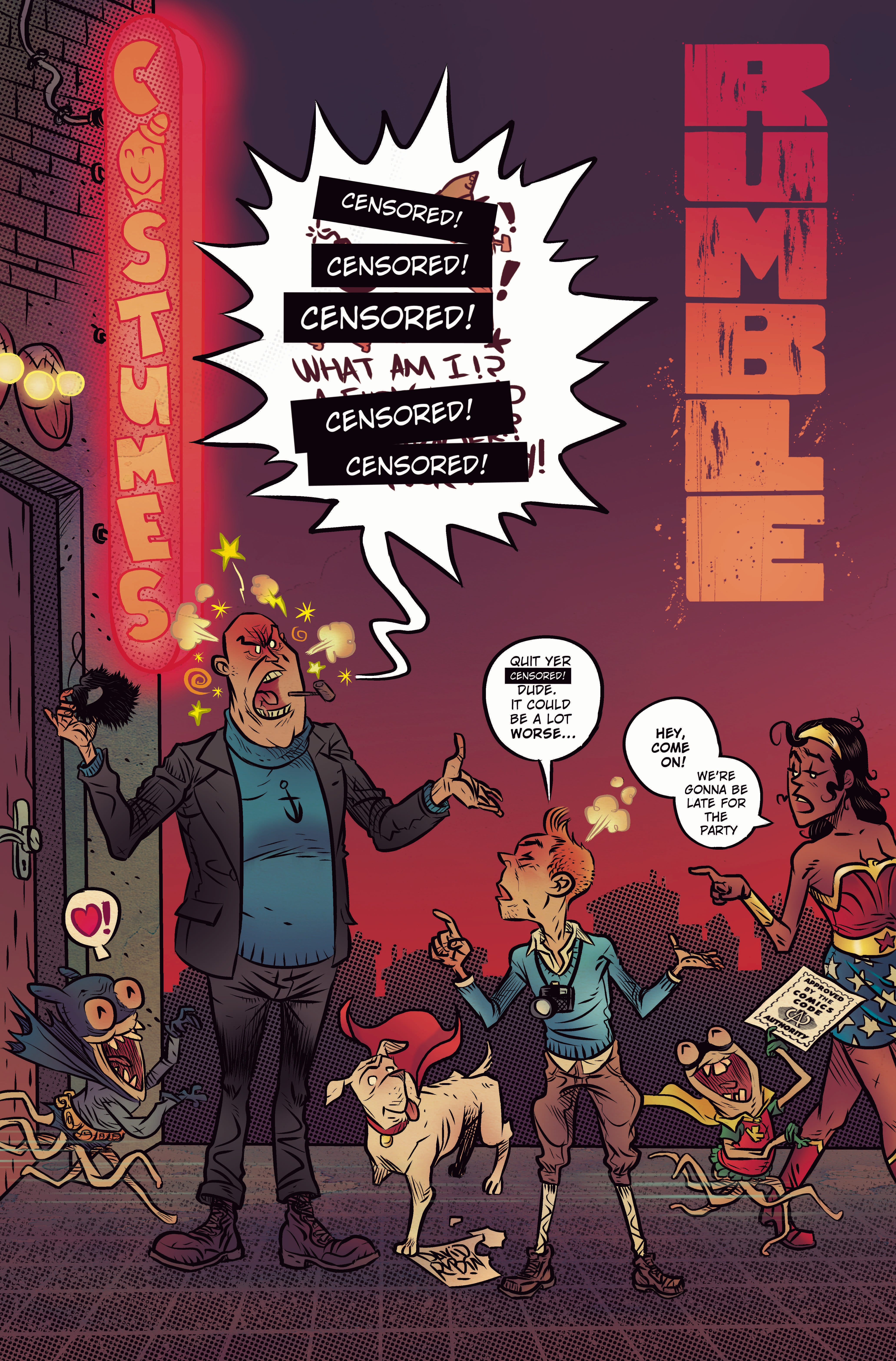 RUMBLE #7 CVR C CBLDF CHARITY VAR CENSORED (MR)