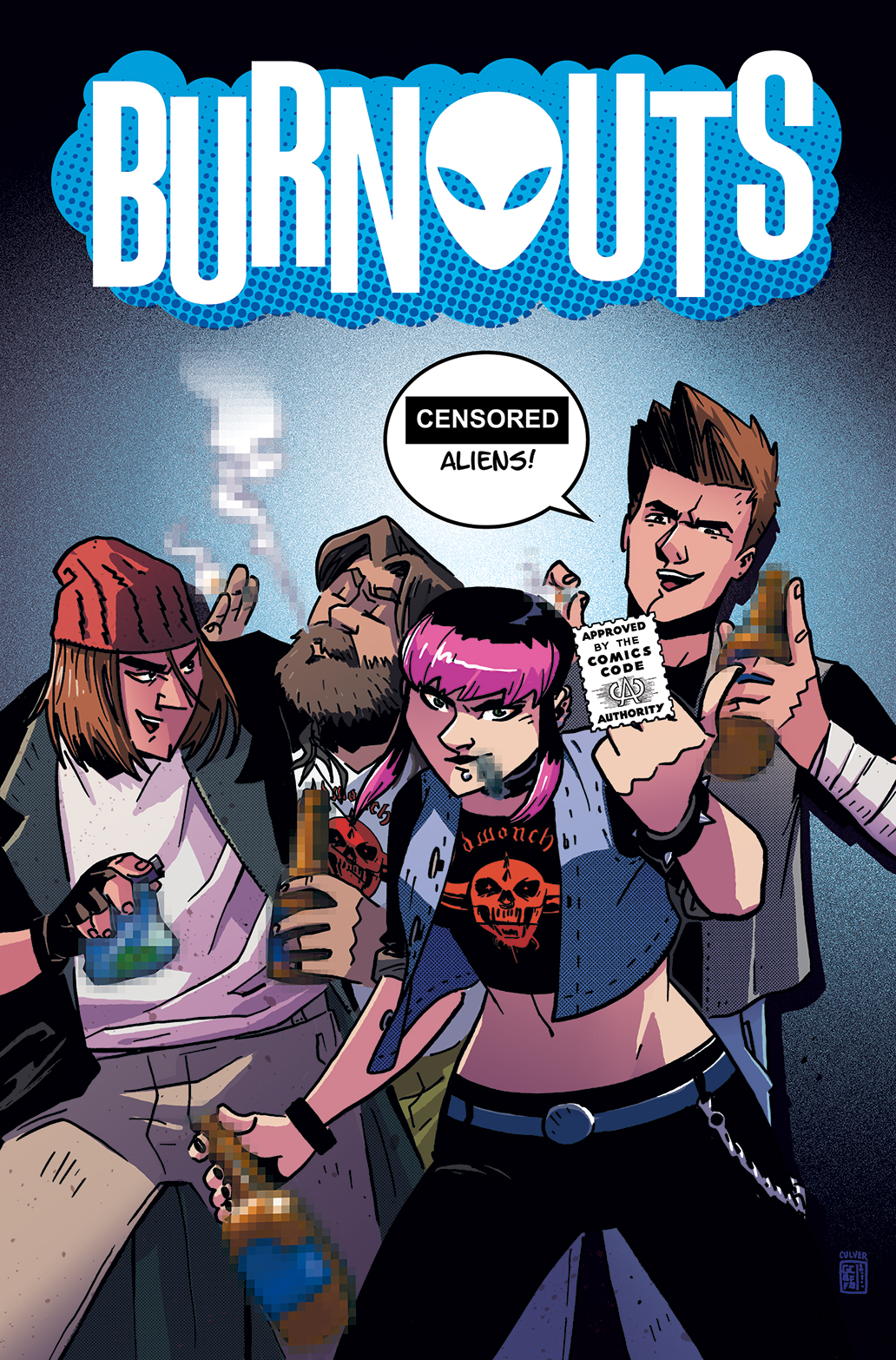 BURNOUTS #1 CVR B CBLDF CHARITY VAR CENSORED (MR)