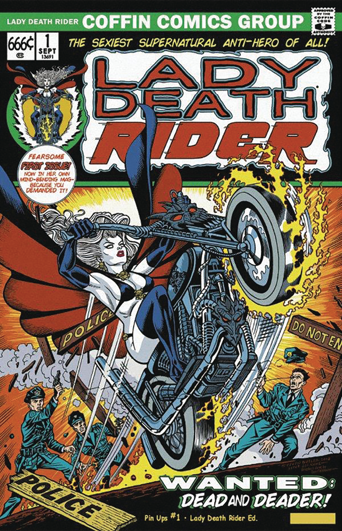 LADY DEATH PIN UPS #1 LADY DEATH RIDER ED