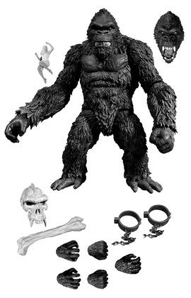 "KING KONG OF SKULL ISLAND PX 7"" ACTION FIGURE B&W VERSION (C"
