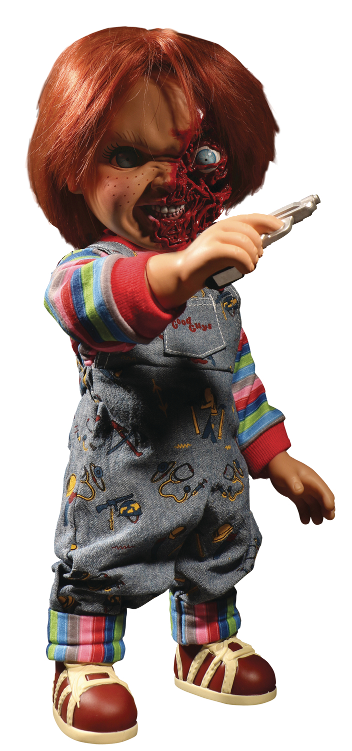 CHILDS PLAY TALKING PIZZA FACE CHUCKY 15IN MEGA SCALE FIG (C