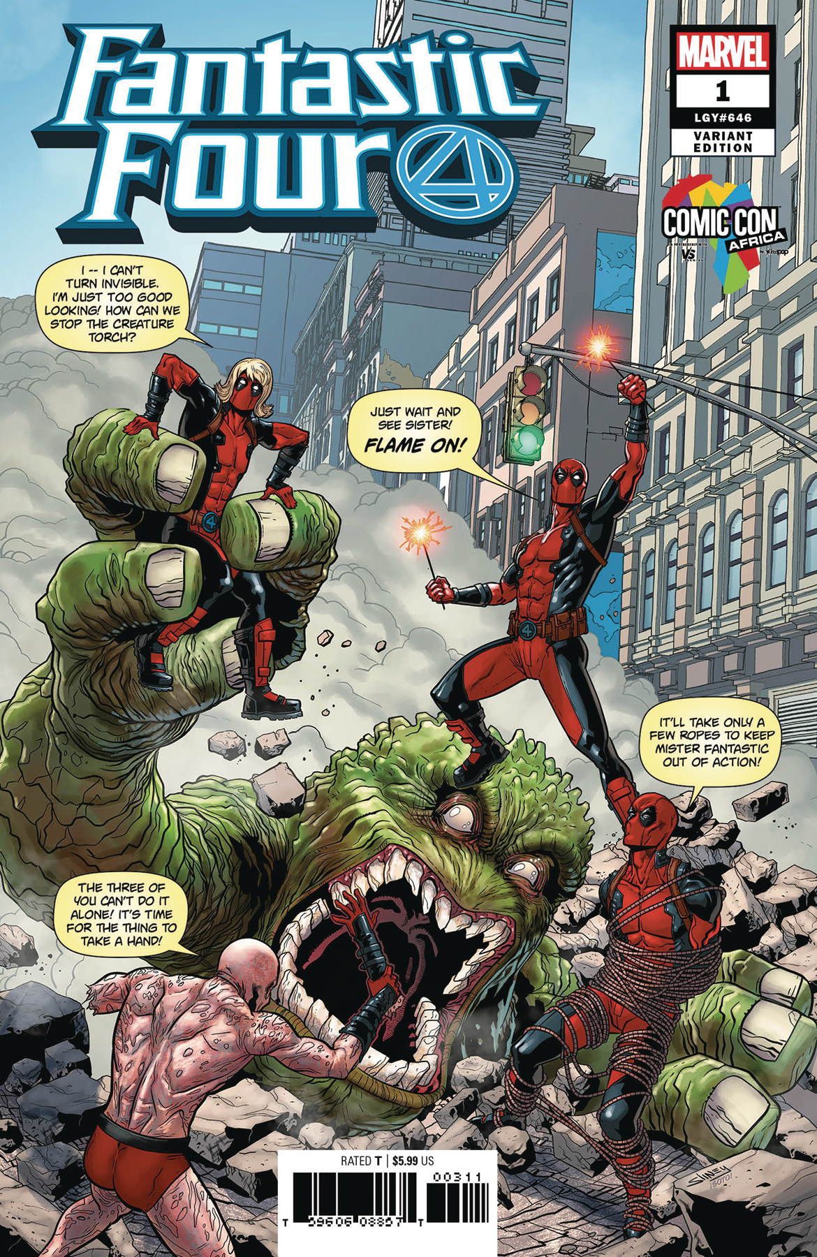 FANTASTIC FOUR #1 SLINEY COMIC CON AFRICA VAR (Net)