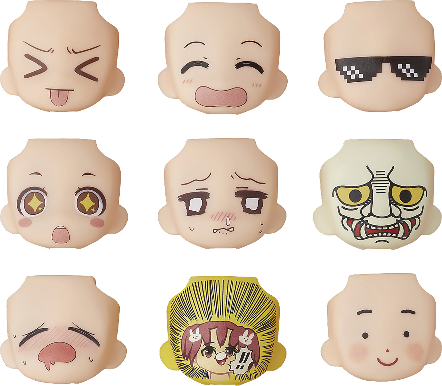 NENDOROID MORE FACE SWAP 03 9PC BMB DS