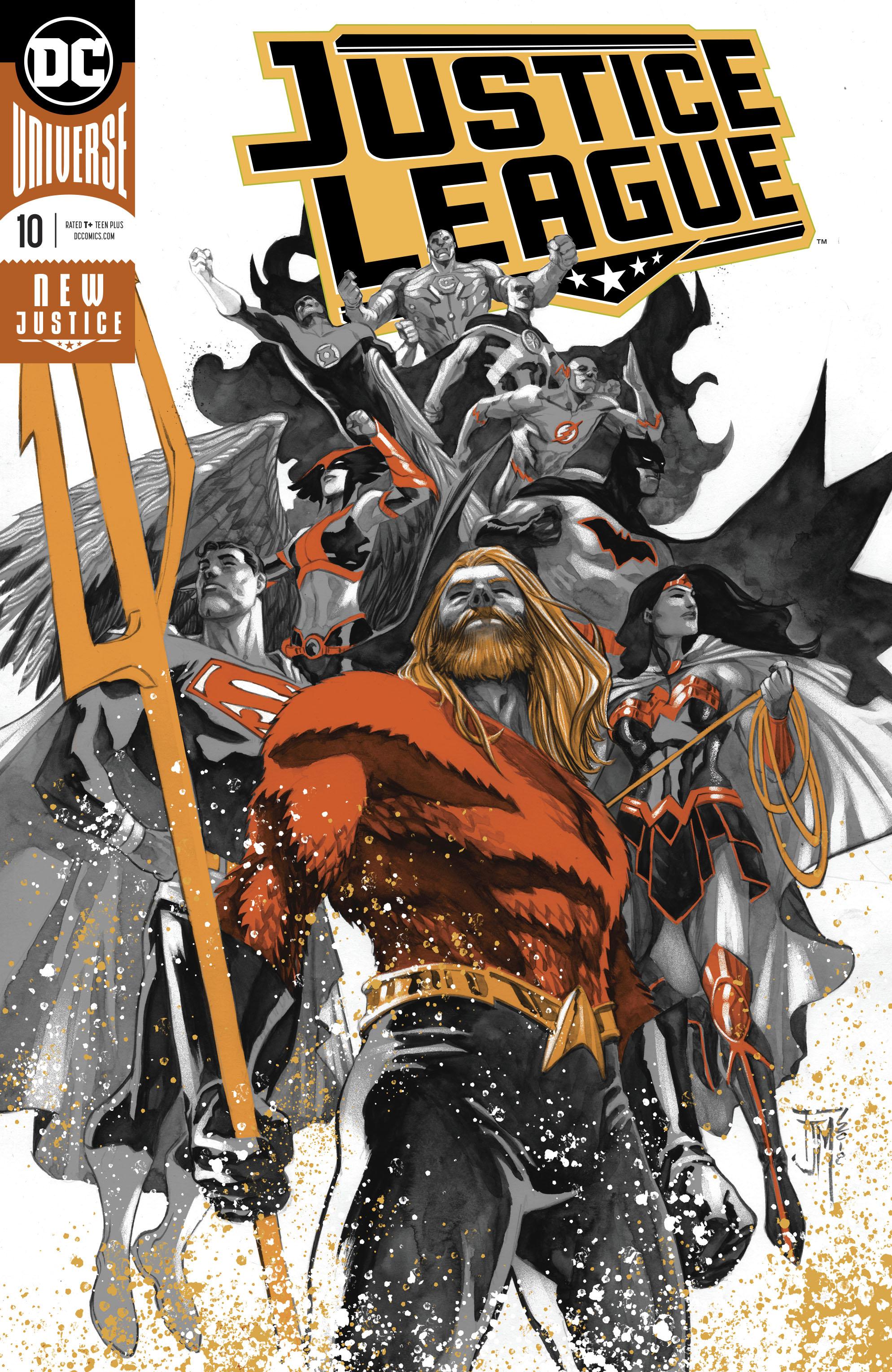 justice league 10 foil cover