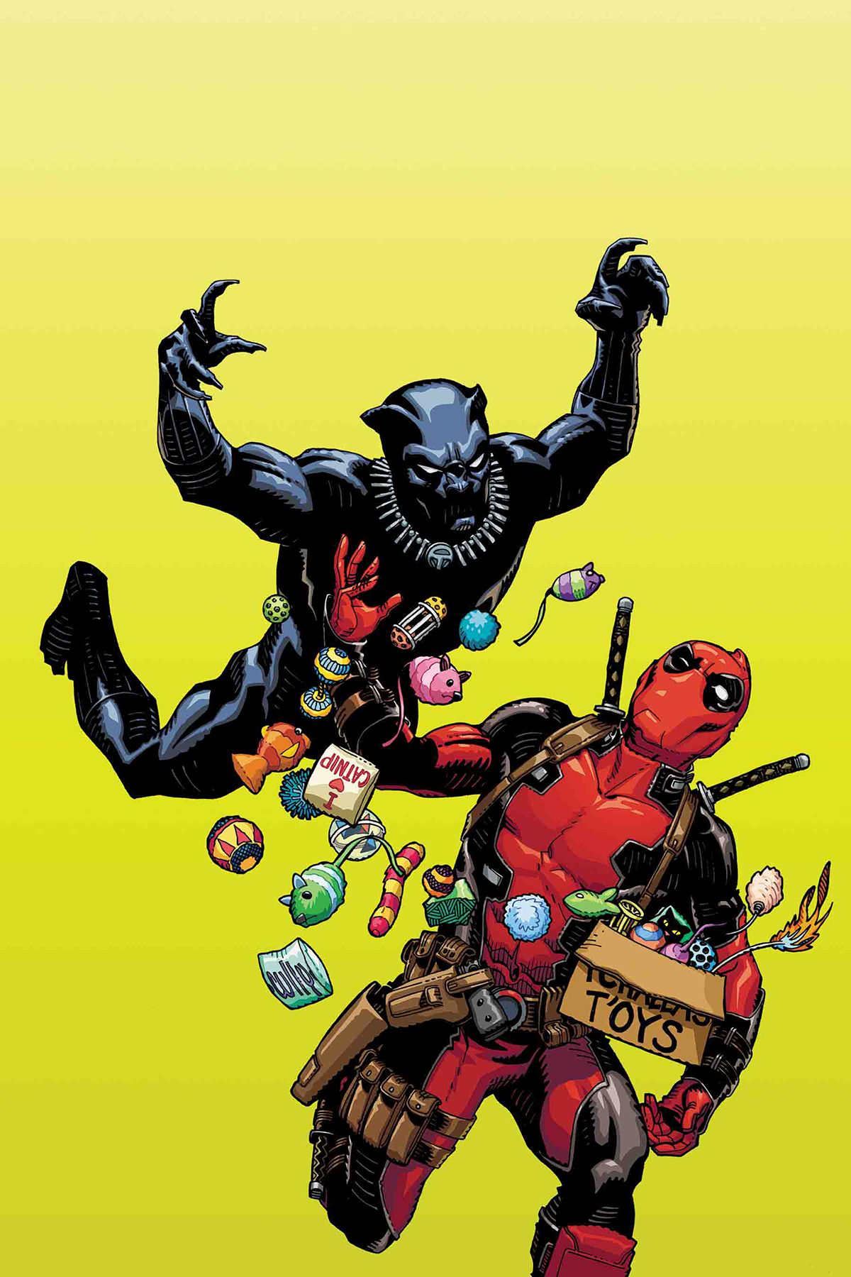BLACK PANTHER VS DEADPOOL #1 (OF 5) HAMNER VAR