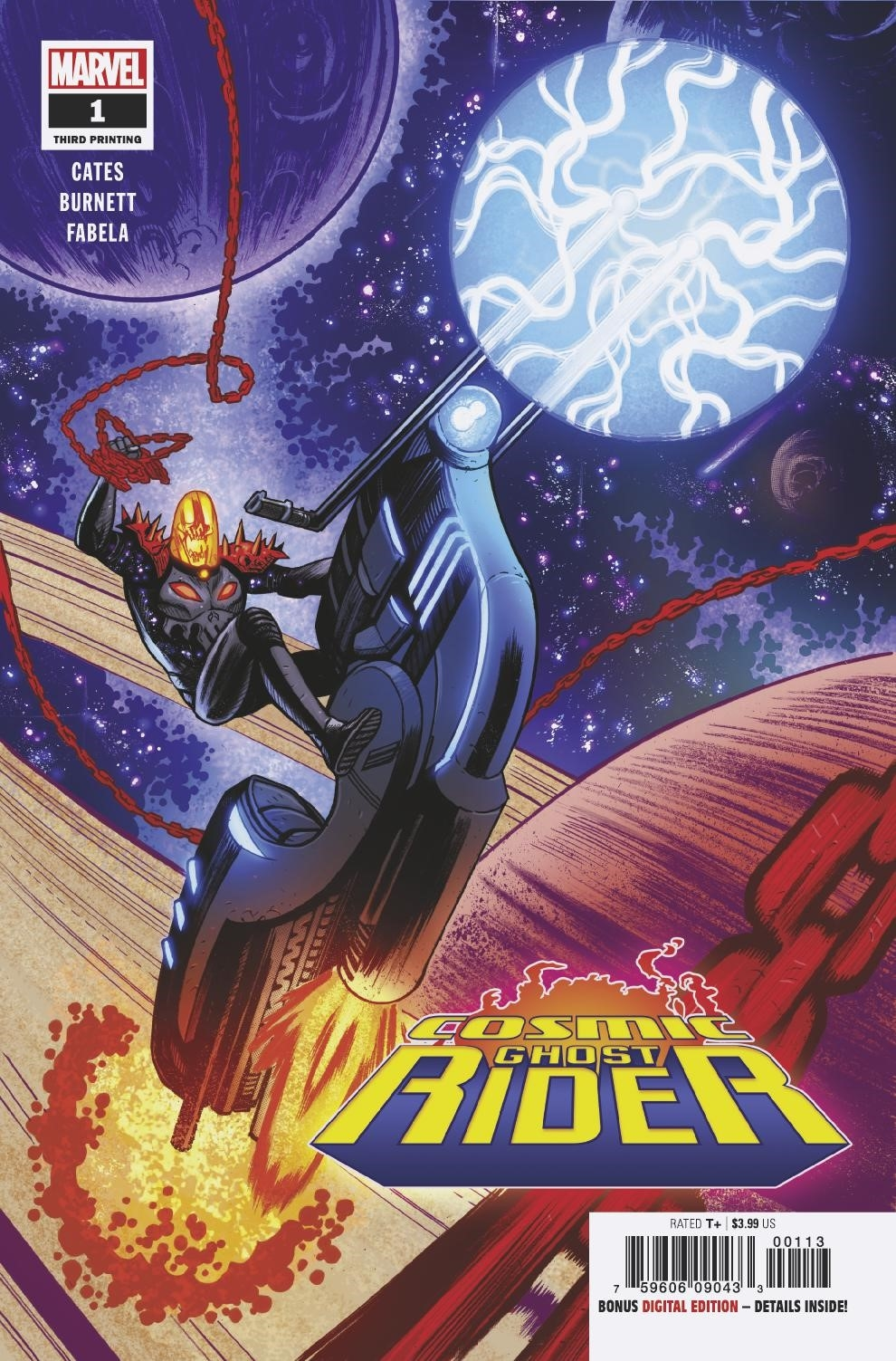 COSMIC GHOST RIDER #1 (OF 5) 3RD PTG BURNETT VAR