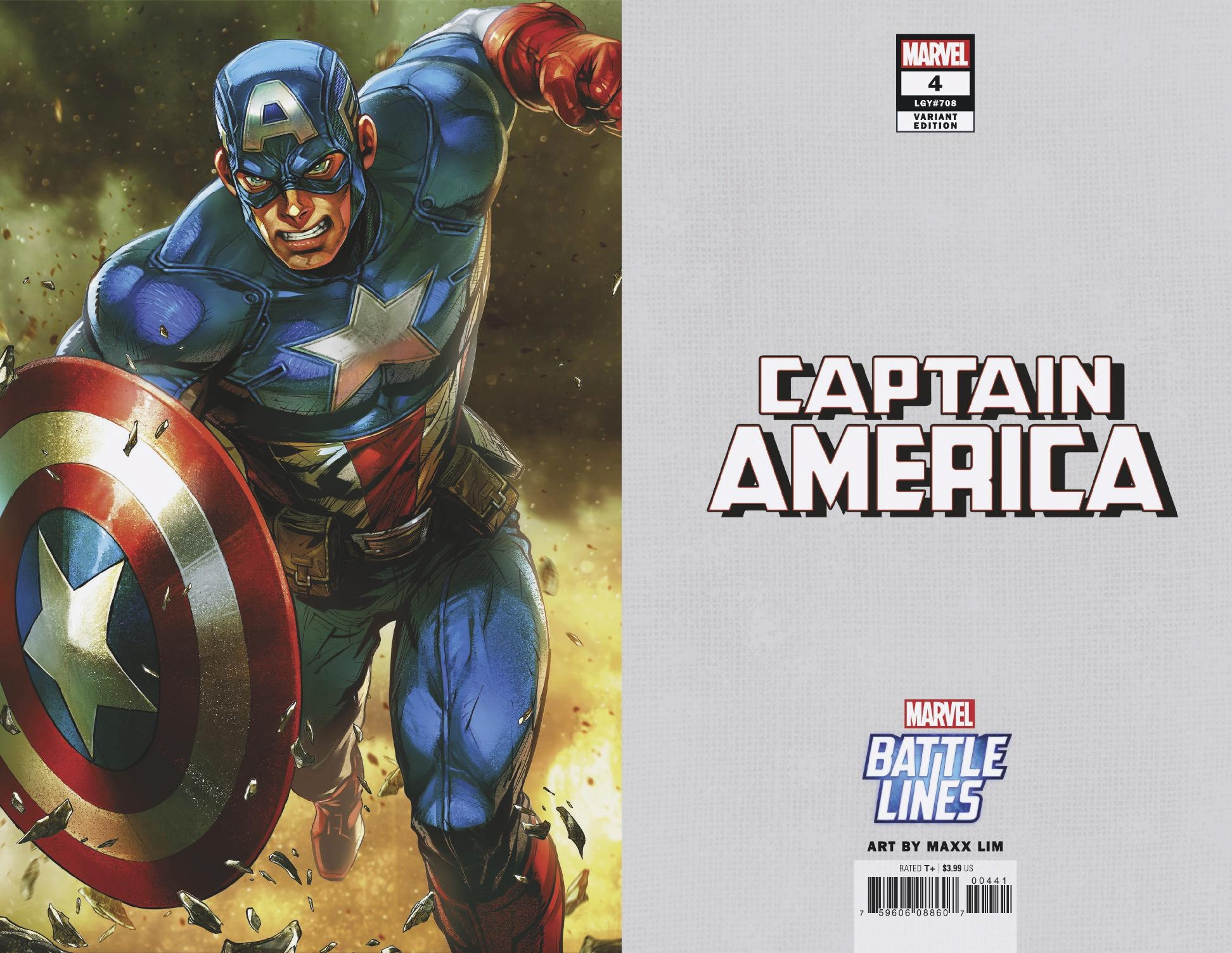 CAPTAIN AMERICA #4 MAXX LIM MARVEL BATTLE LINES VAR