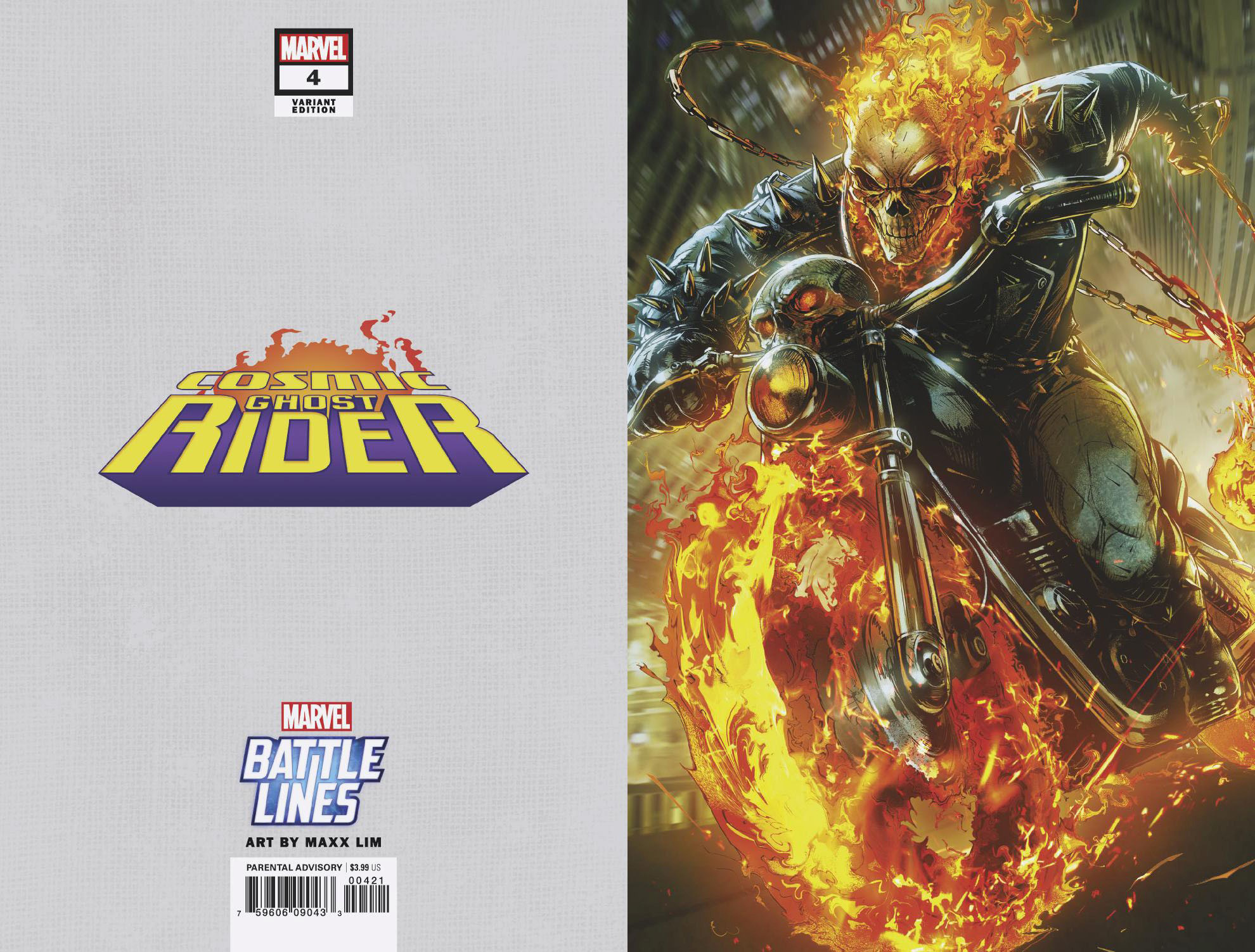 COSMIC GHOST RIDER #4 (OF 5) MAXX LIM MARVEL BATTLE LINES VA