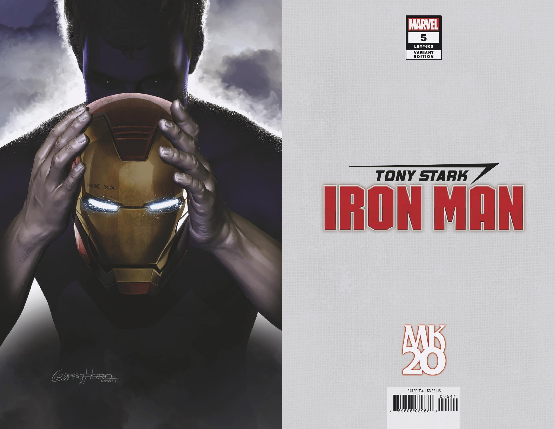 TONY STARK IRON MAN #5 HORN MKXX VIRGIN VAR
