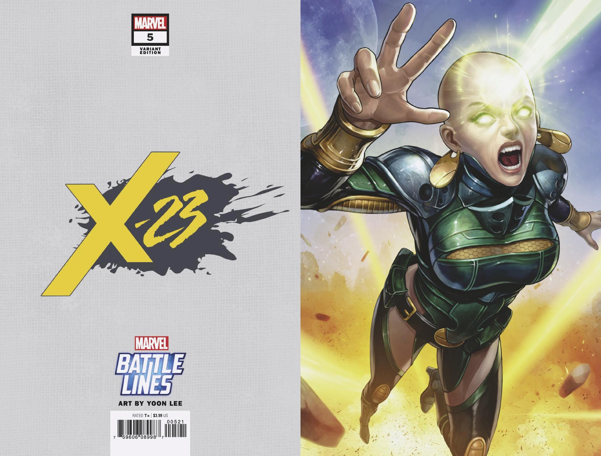 X-23 #5 YOON LEE MARVEL BATTLE LINES VAR