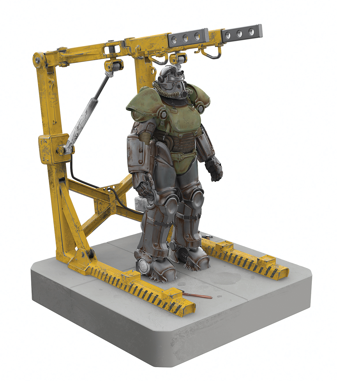 FALLOUT T-51 POWER ARMOR AND CRADLE 4 PORT USB HUB