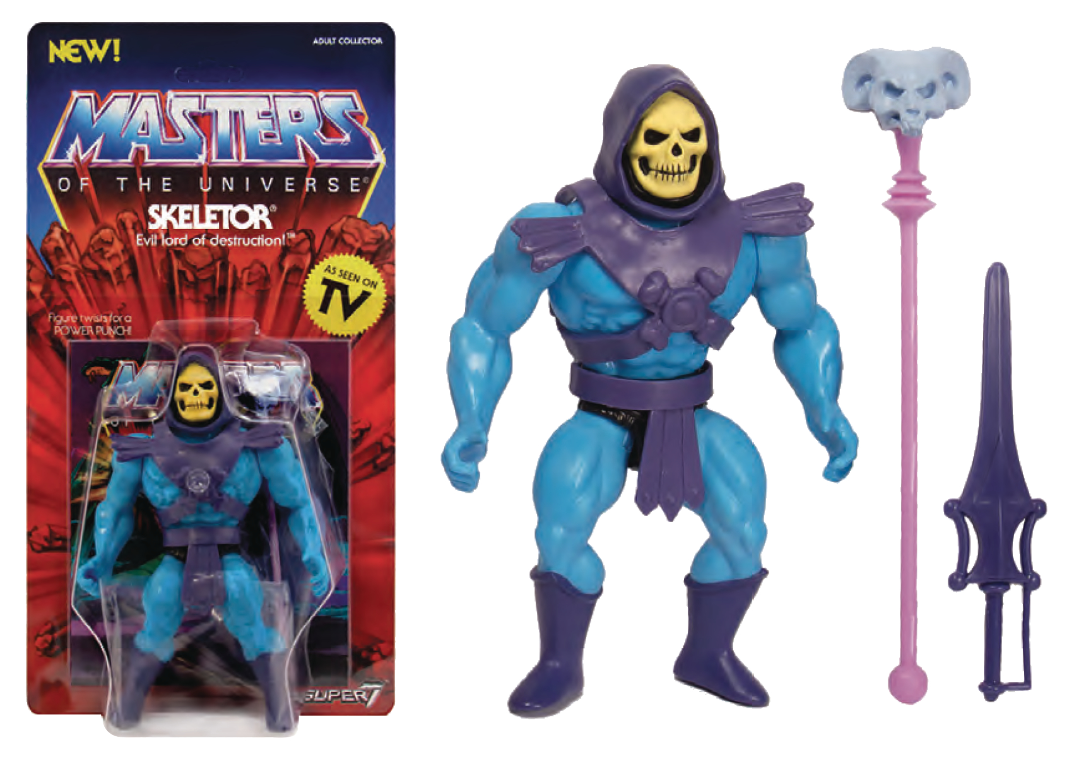 MOTU 5.5IN VINTAGE SKELETOR ACTION FIGURE