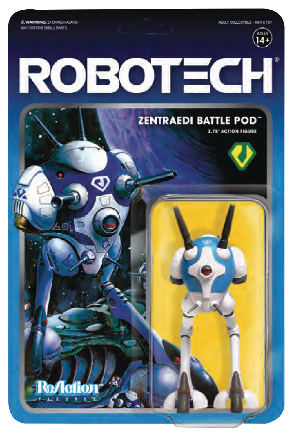 ROBOTECH 3.75IN REACTION FIG WV 1 ZENTRAEDI BATTLEPOD