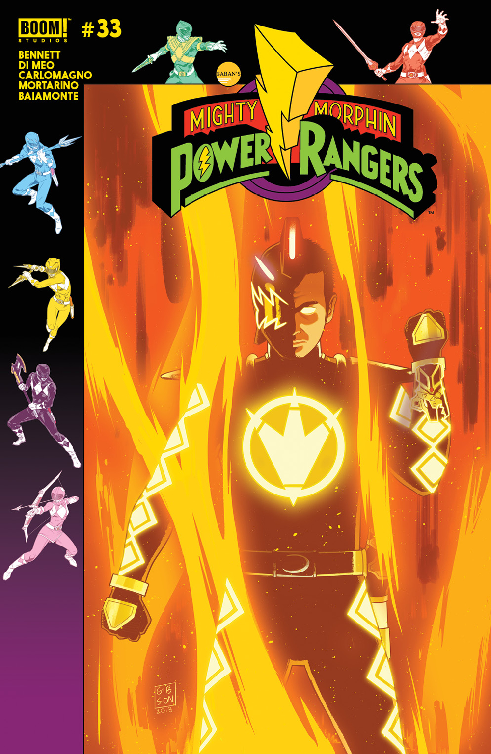 MIGHTY MORPHIN POWER RANGERS #33 PREORDER GIBSON VAR
