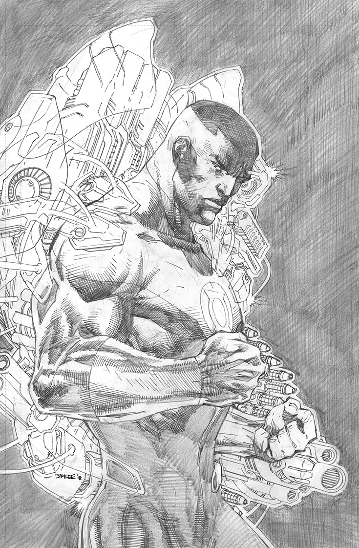 JUSTICE LEAGUE #6 JIM LEE PENCILS VAR ED