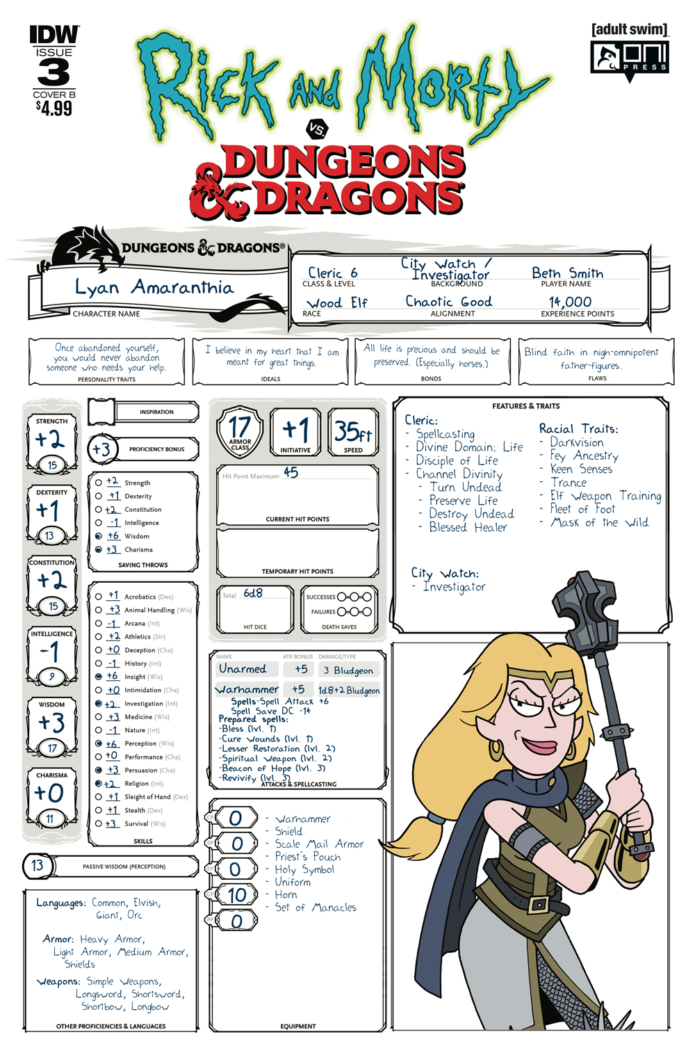 SEP180736 - RICK   MORTY VS DUNGEONS   DRAGONS  3 (OF 4) CVR B ... e9058dd05739