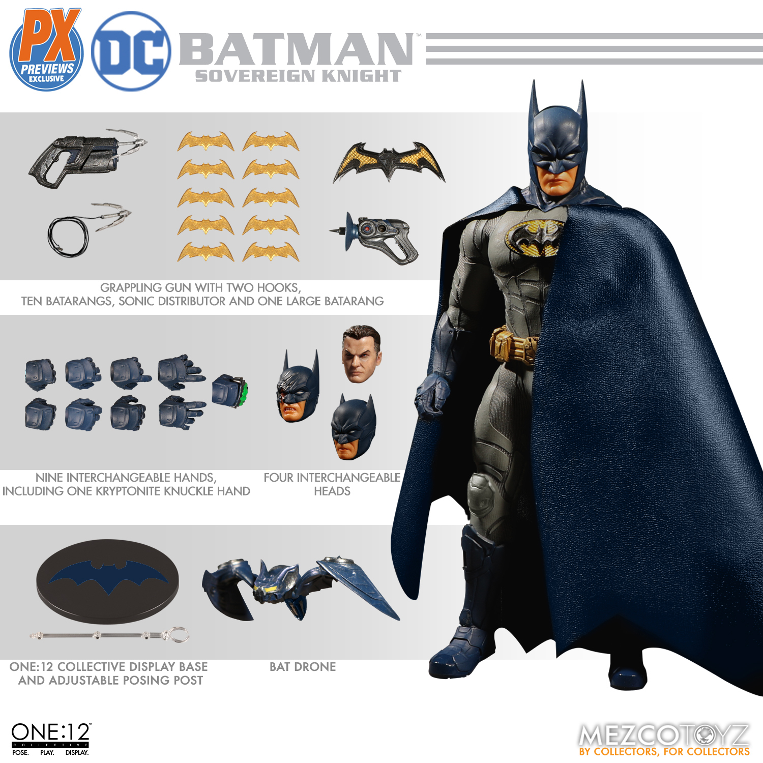 ONE-12 COLLECTIVE DC PX SOVEREIGN KNIGHT BATMAN BLUE AF (NET