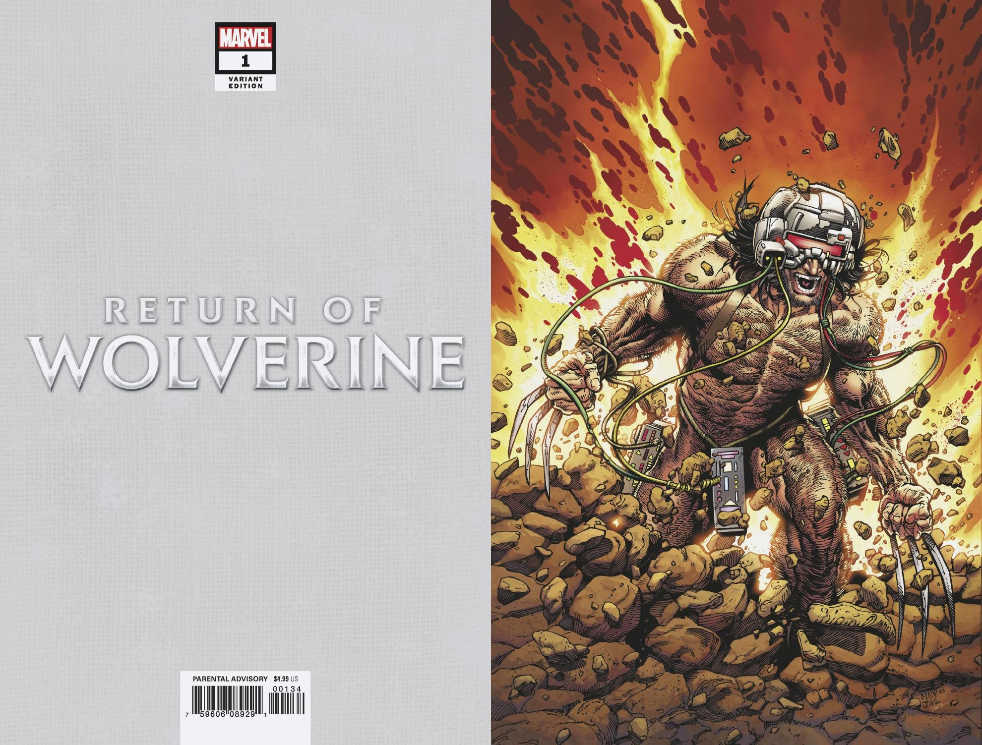 RETURN OF WOLVERINE #1 (OF 5) MCNIVEN WEAPON X COSTUME VIRGI