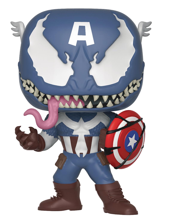 Oct182433 Pop Marvel Venomized Captain America Vinyl Fig