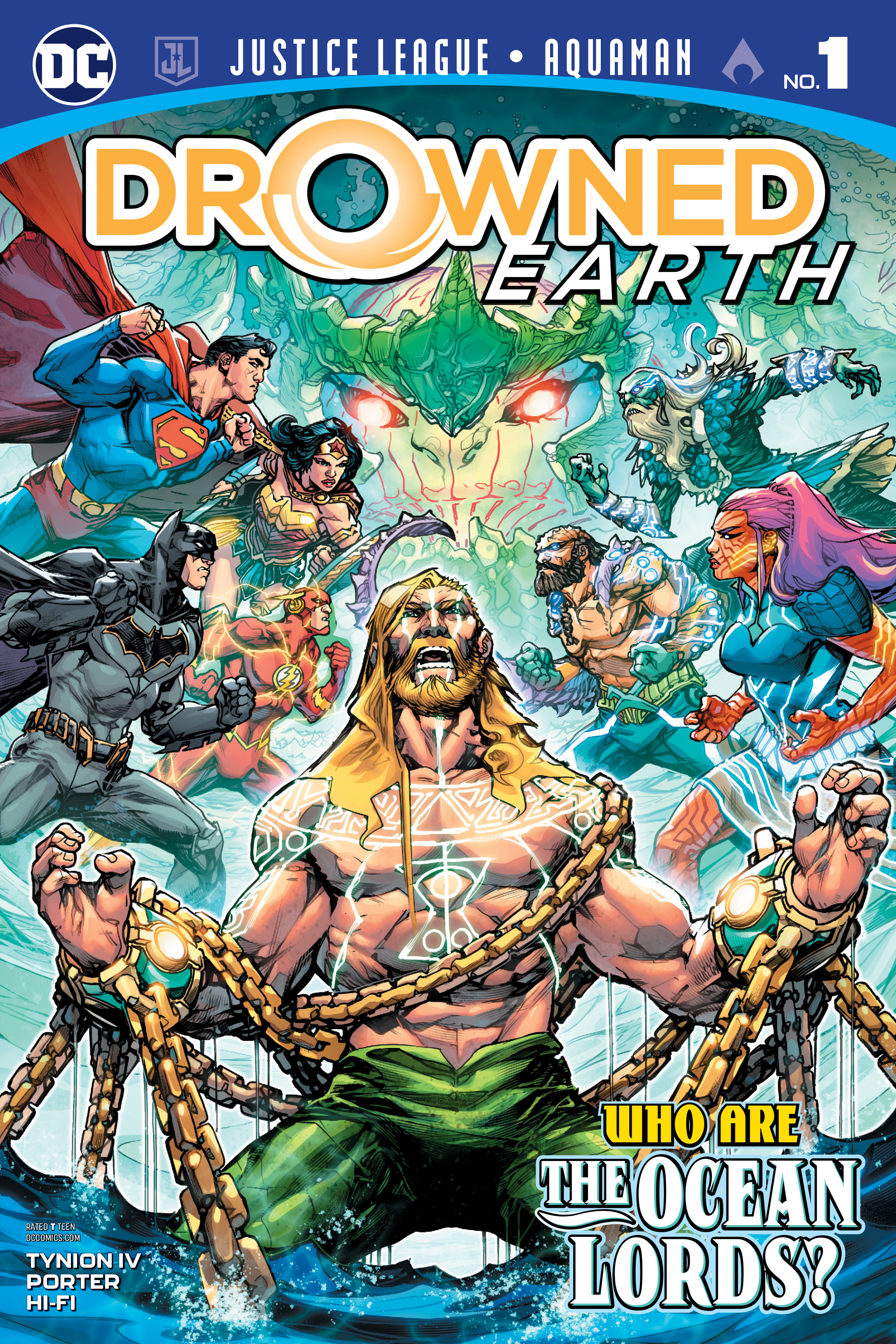 JUSTICE LEAGUE AQUAMAN DROWNED EARTH #1