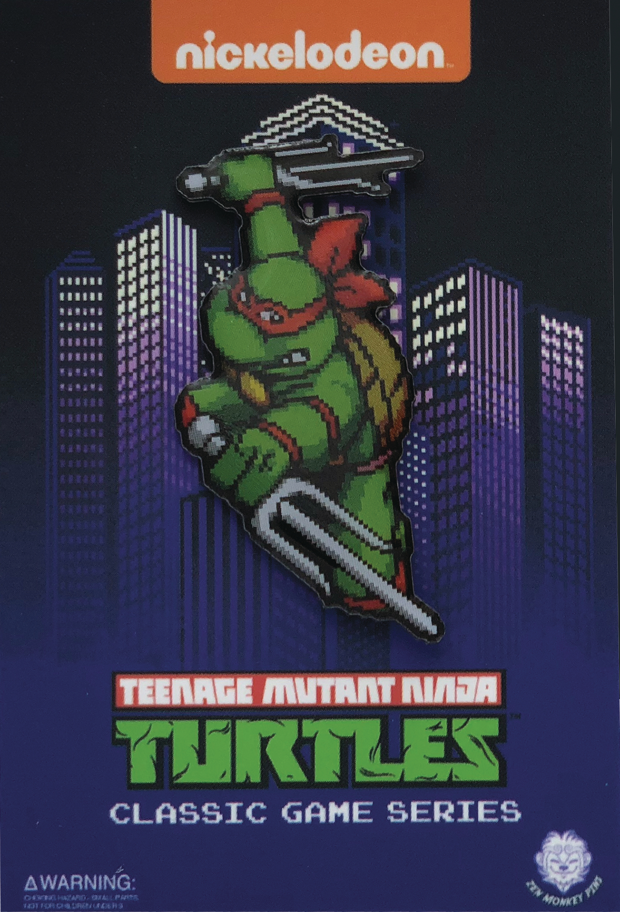 TMNT TURTLES IN TIME CHARACTER SELECT RAPHAEL PIN