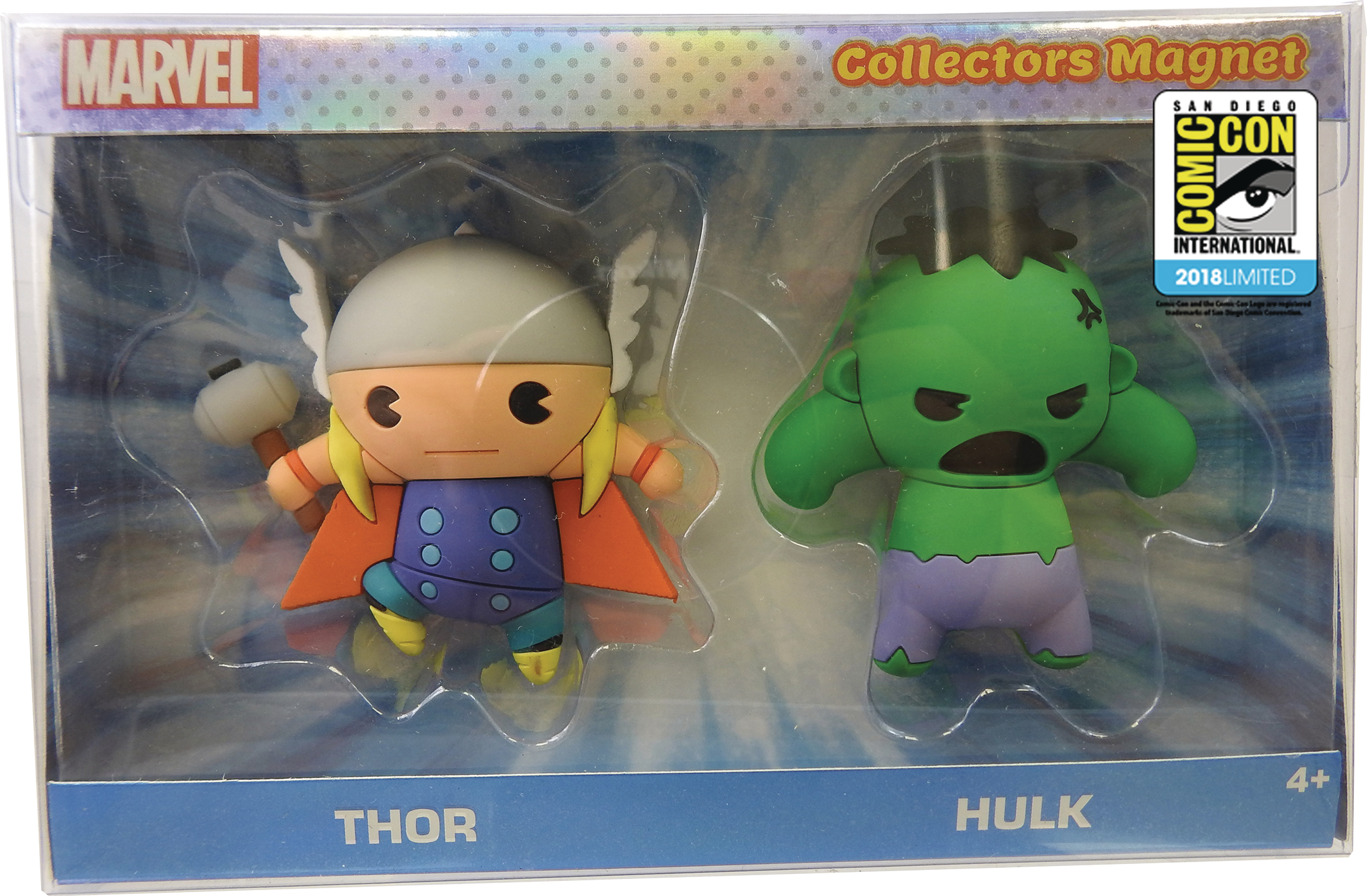 MARVEL THOR & HULK COLLECTOR CON EXCL MAGNET SET