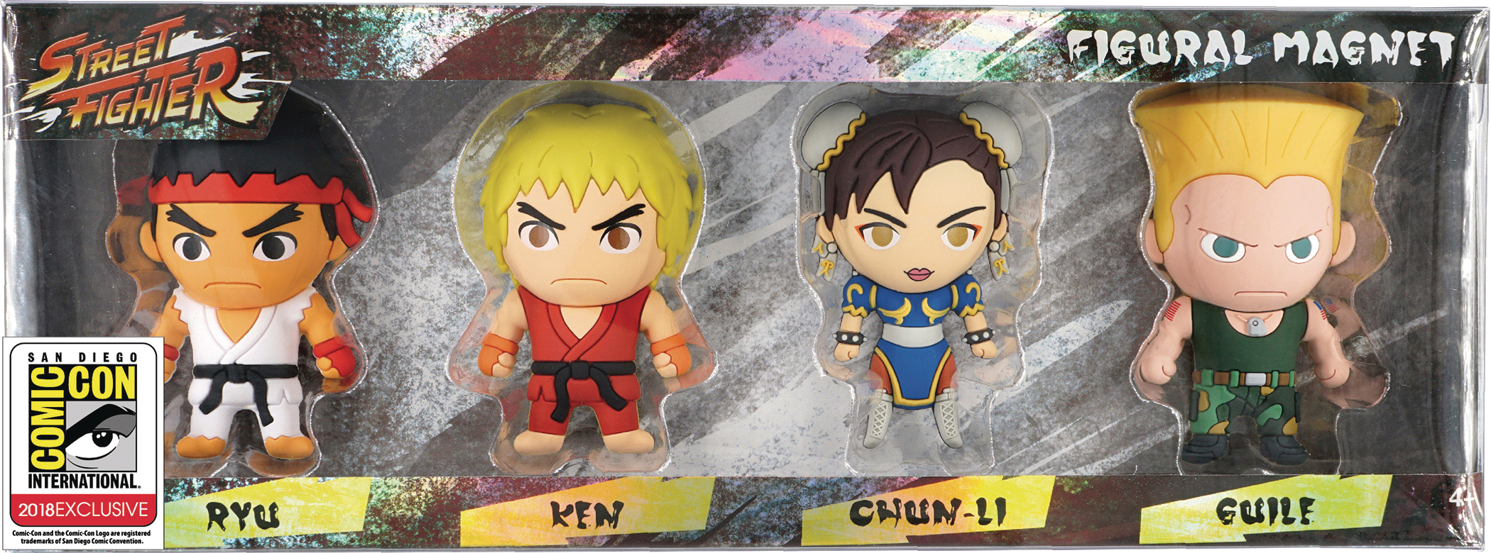 STREET FIGHTER 3D FOAM KEY RING CON EXCL 4PC SET